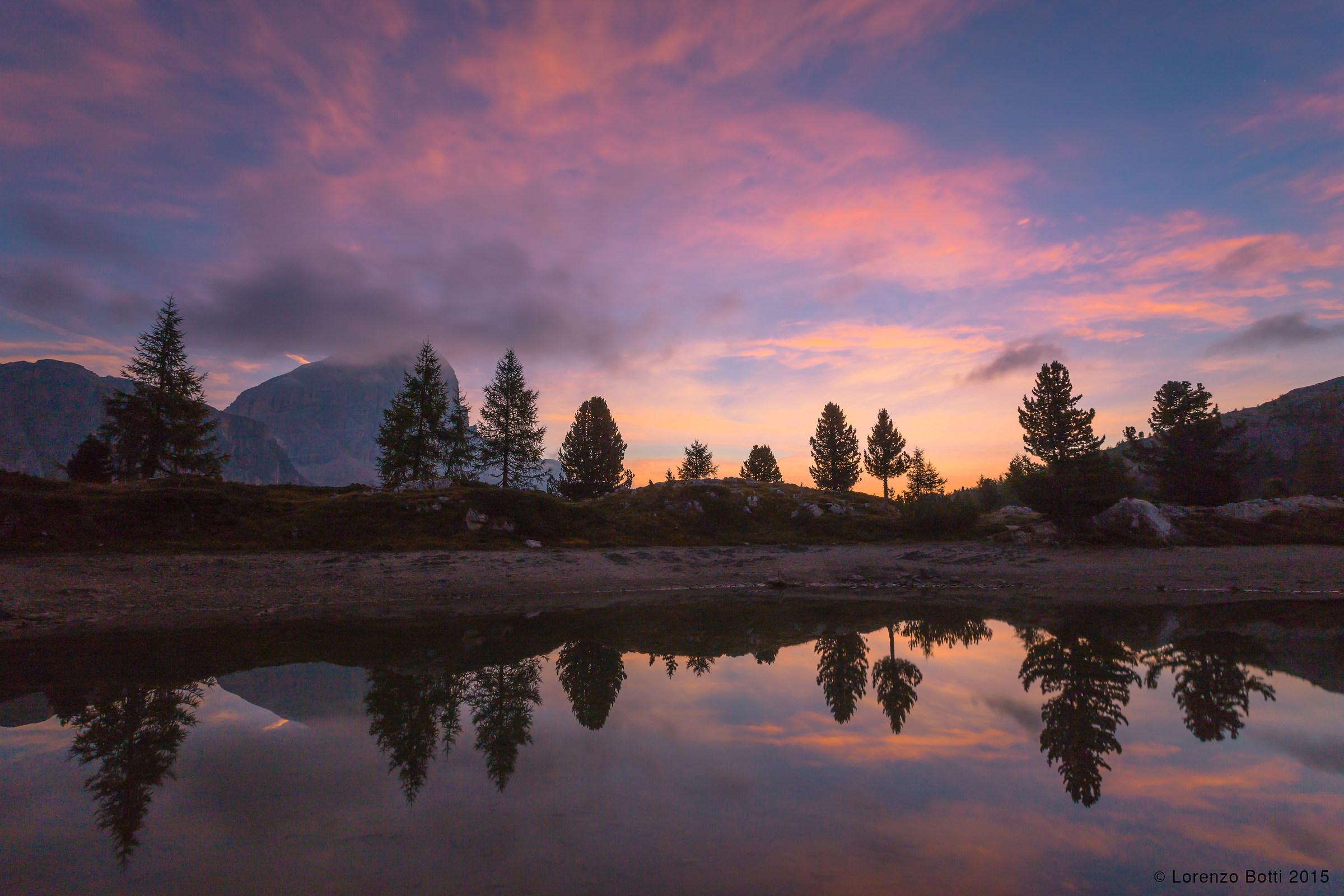 alba al lago Limedes...