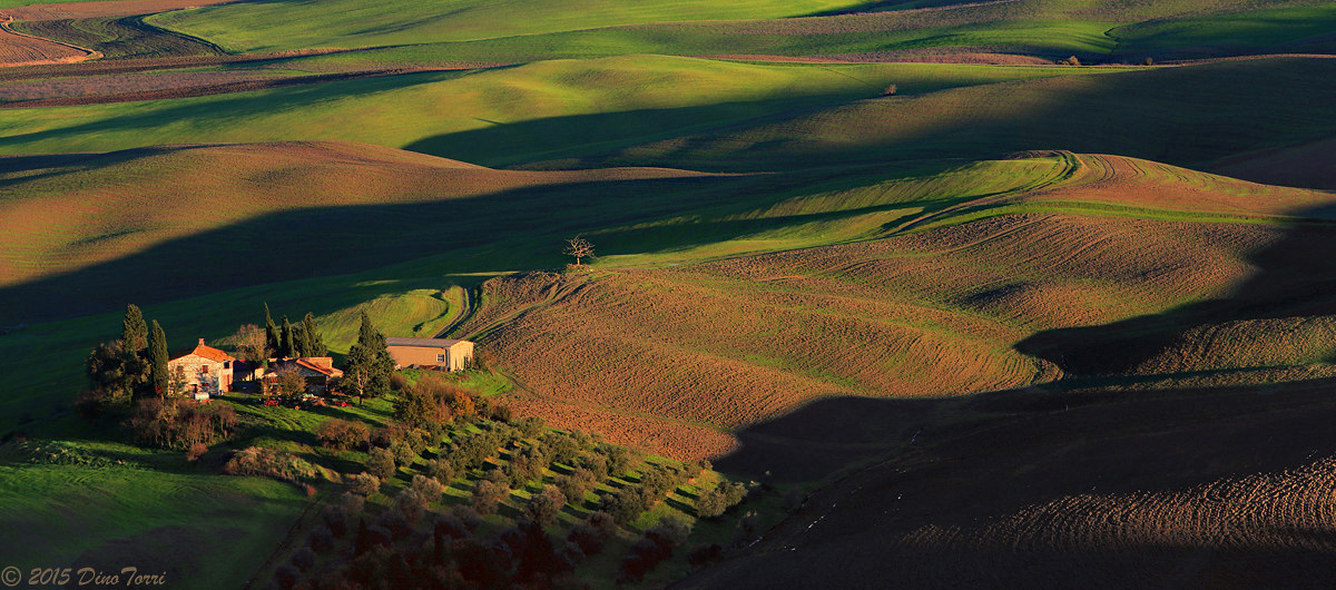 The landing .. (in Val d'Orcia)...