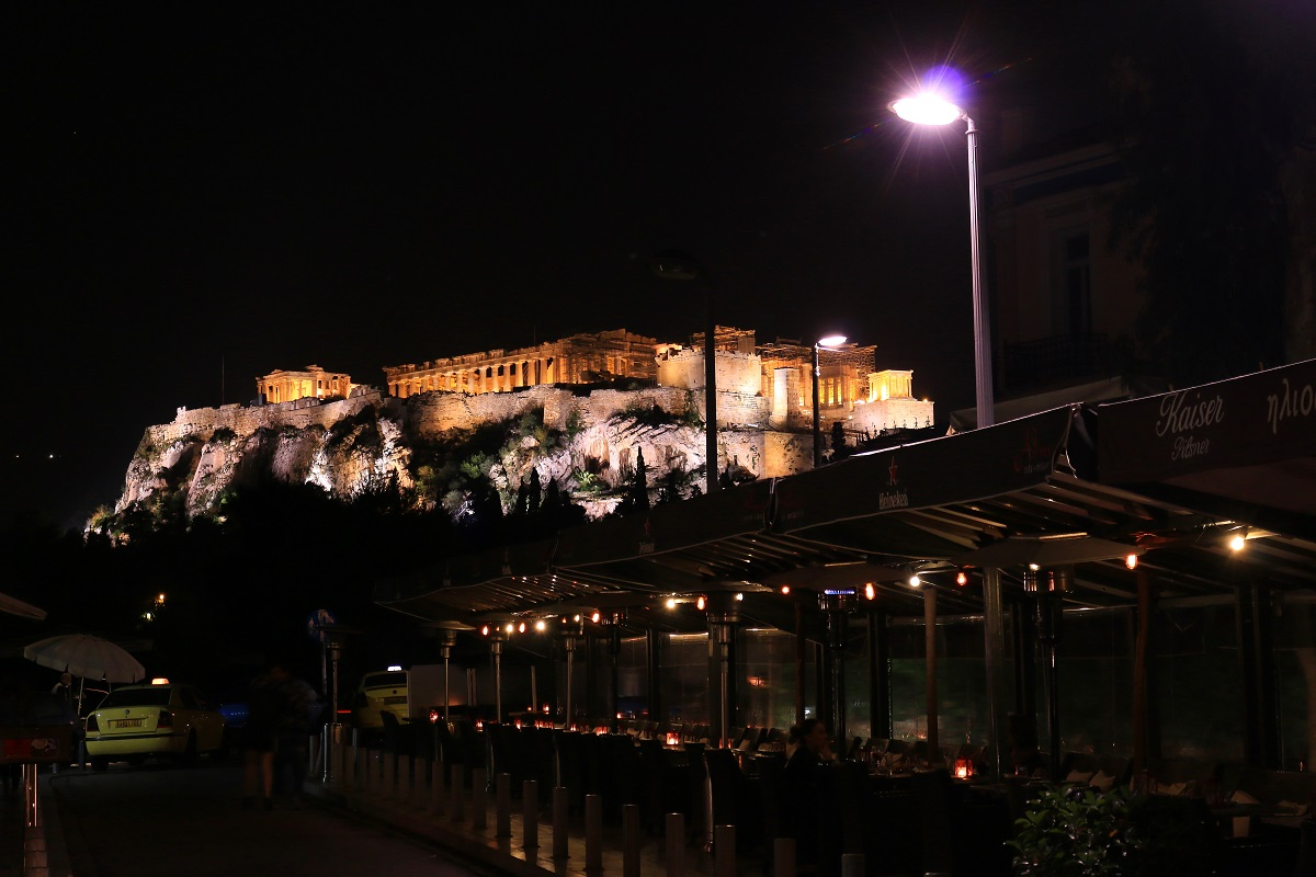Acropolis of Athens by night...