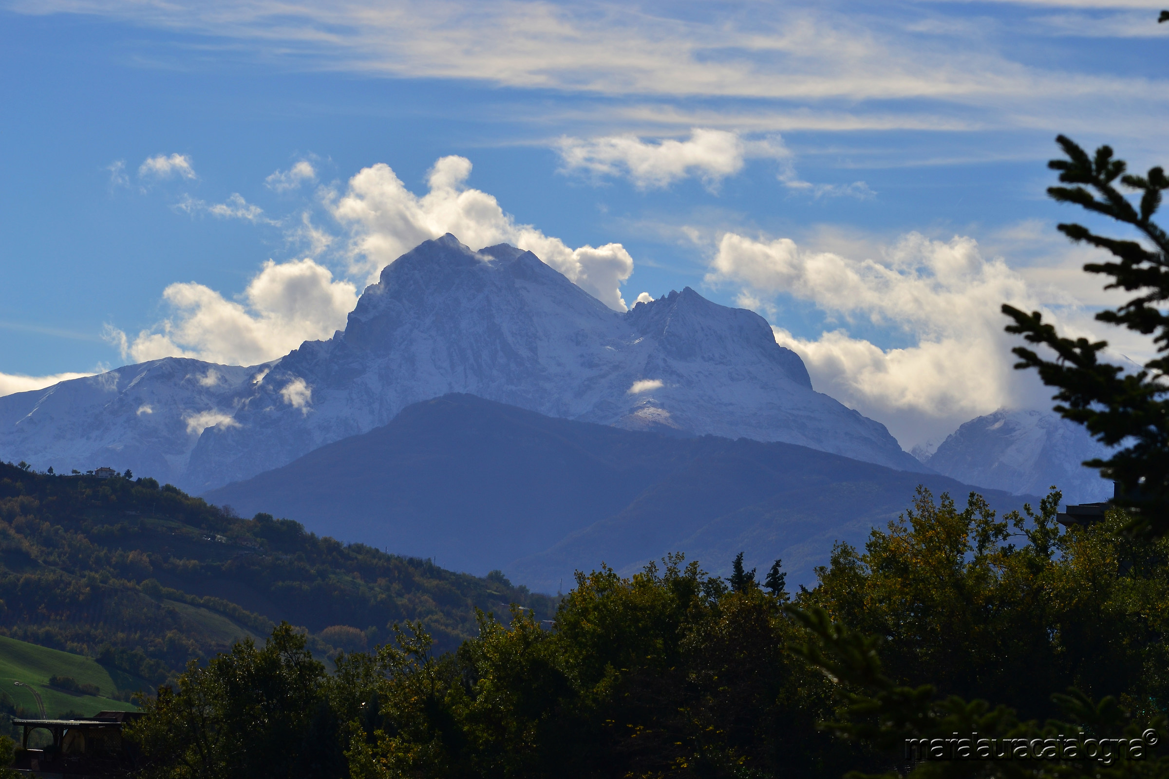 First snow on the Gran Sasso...