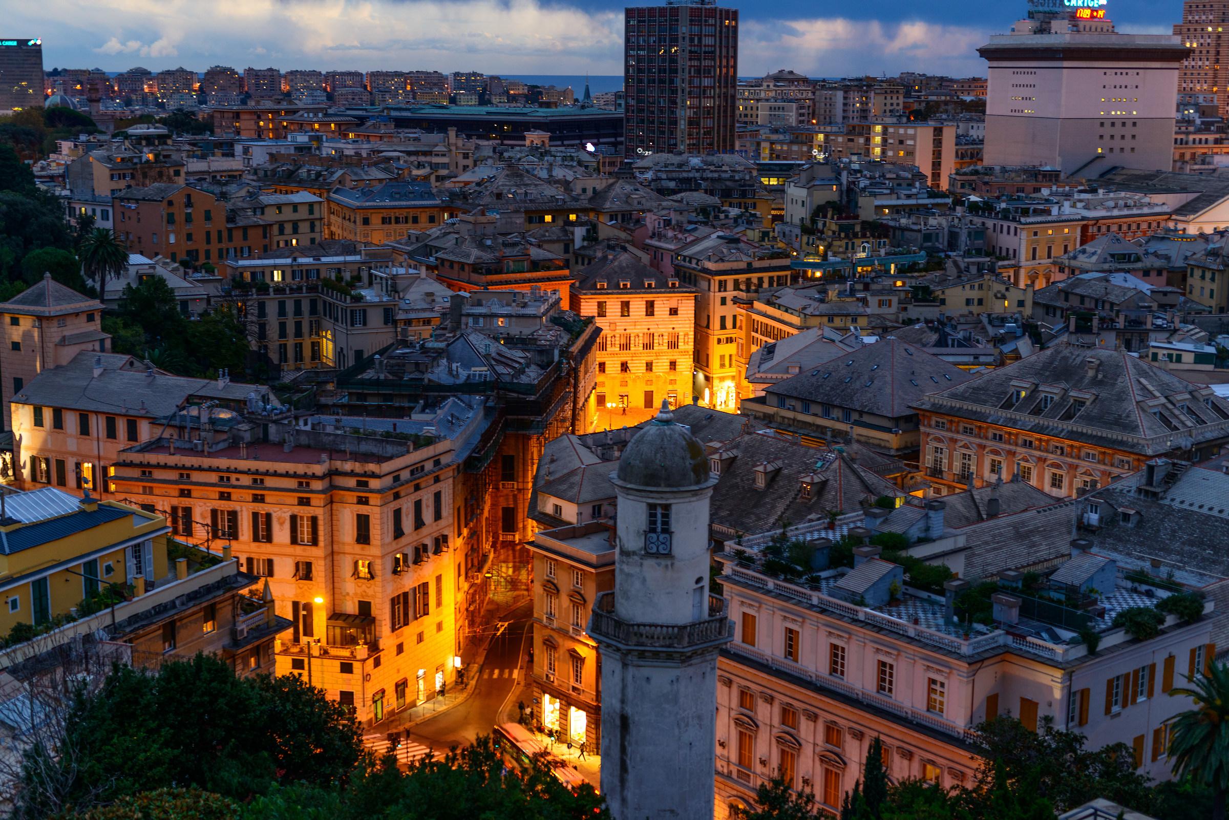 Tramonto a Genova...