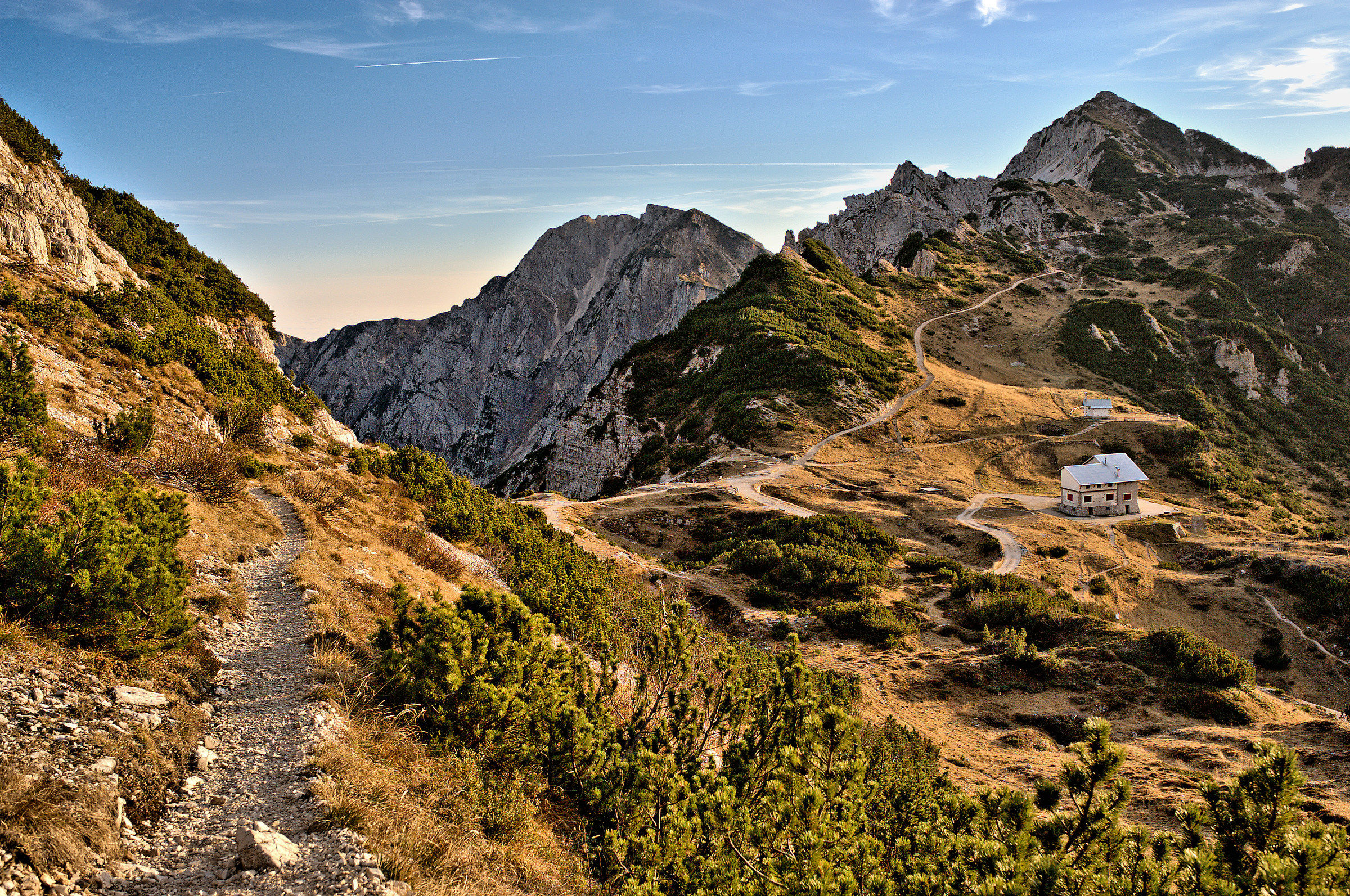 mountain trails...