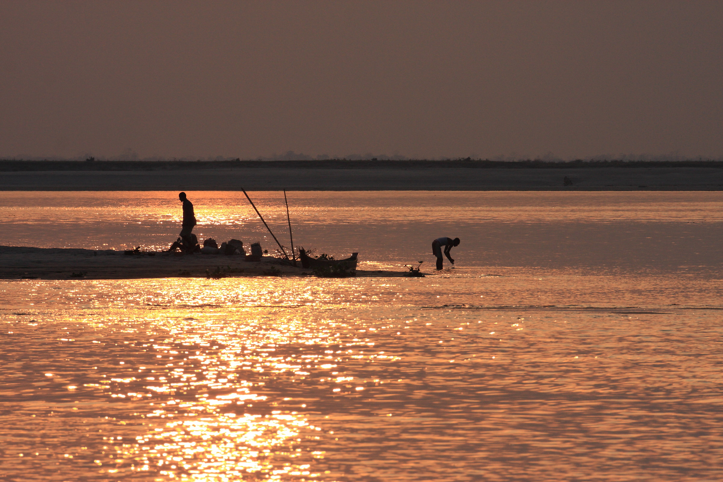 Sunset on Brahmaputra...