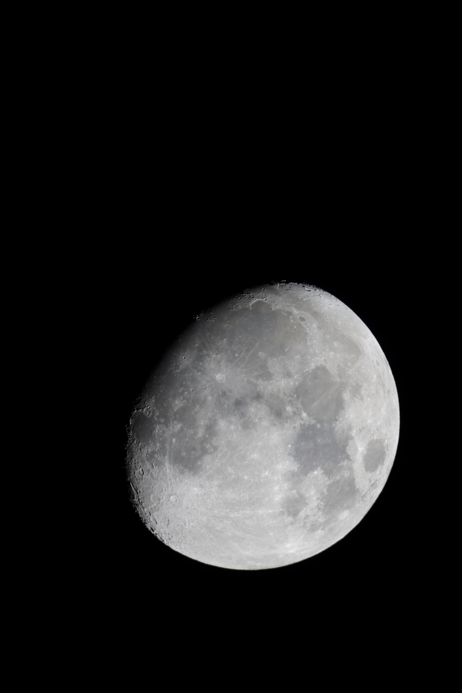 Before the moon with the new telescope...