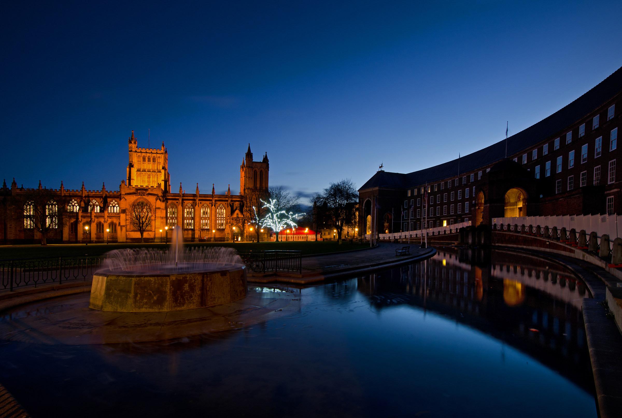 Bristol Cathedral & City Hall...