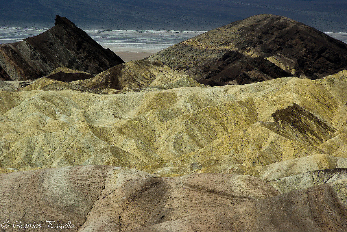 Zabriskie Point with the sun beating down and no shadows...