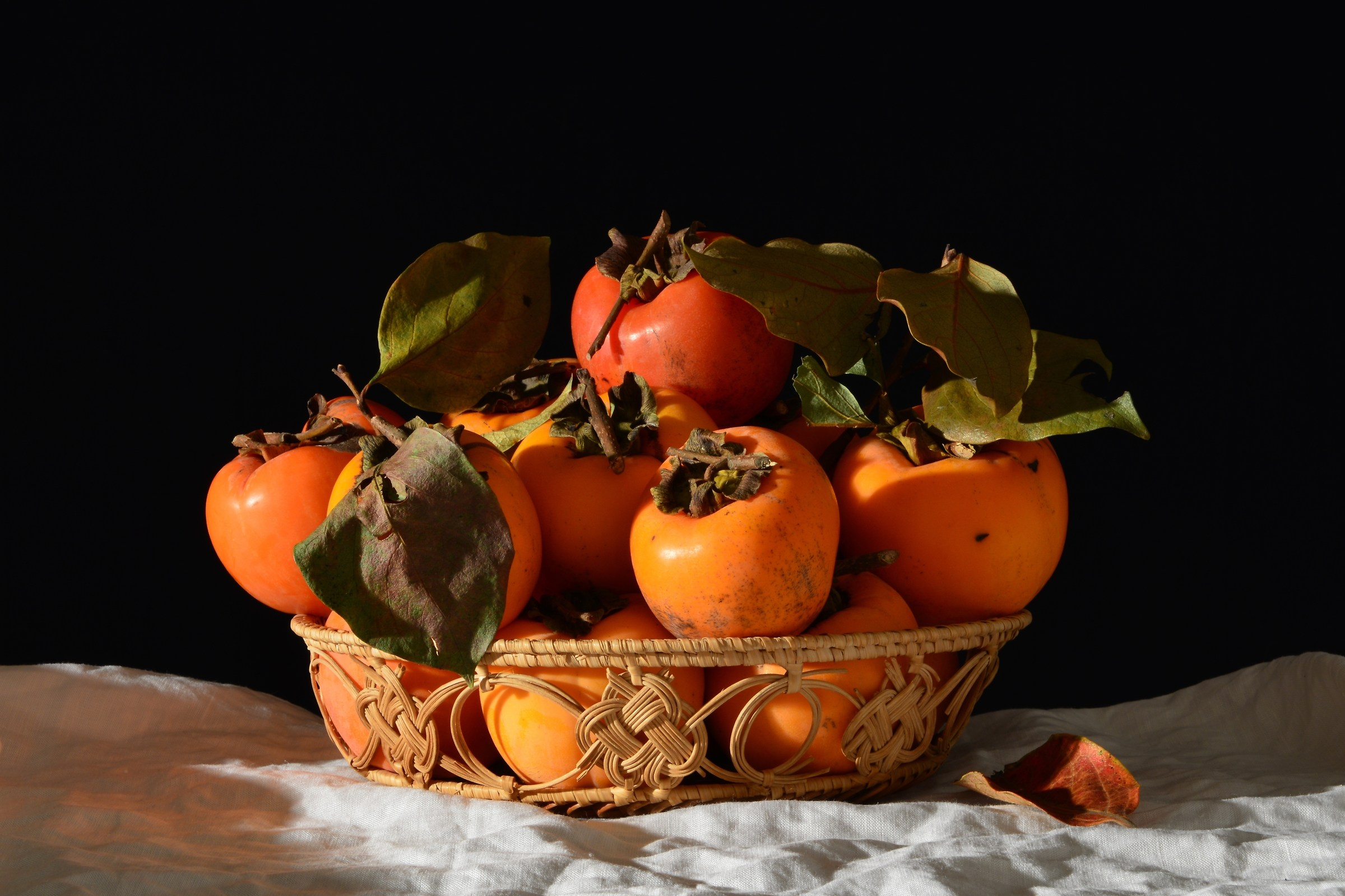 Basket with Persimmons...