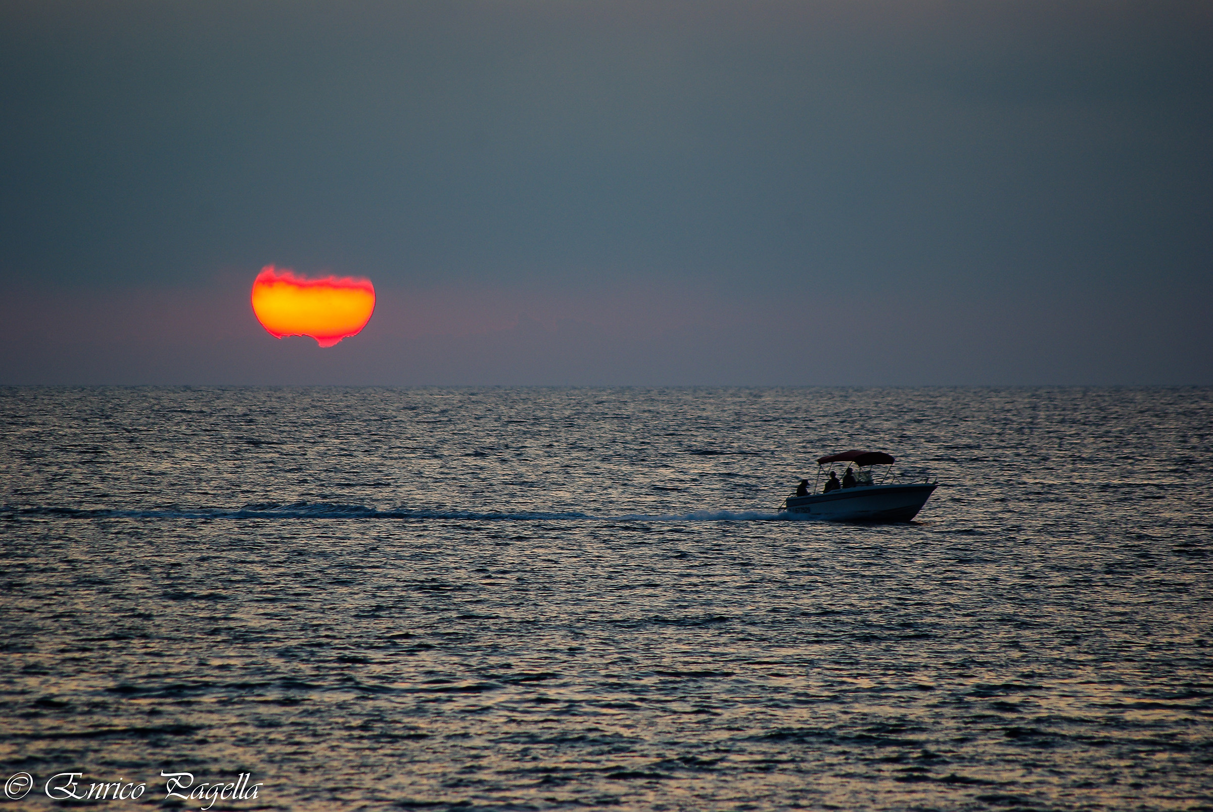 a sunset seen in southern Corsica...