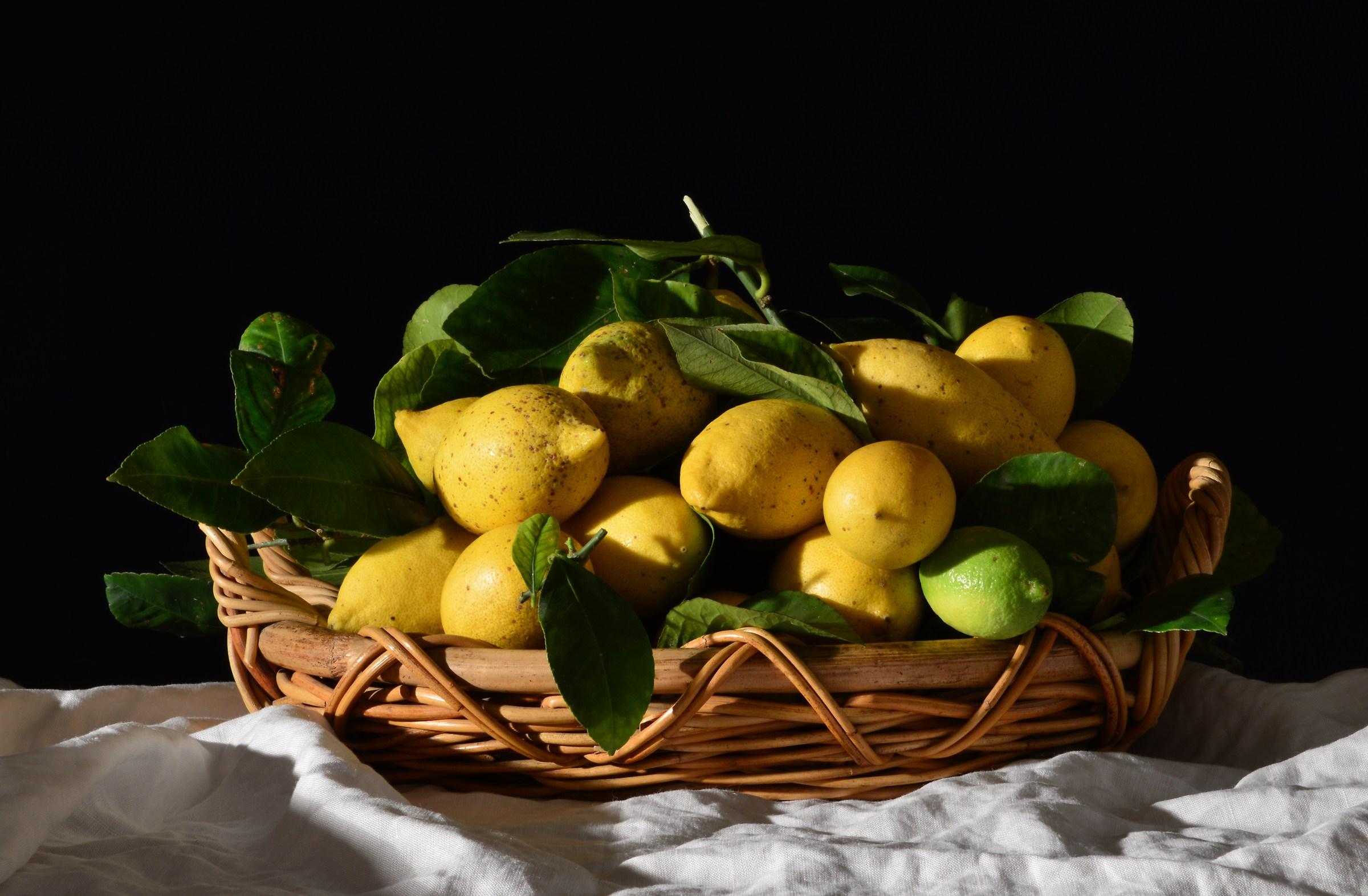 Basket with Lemons...