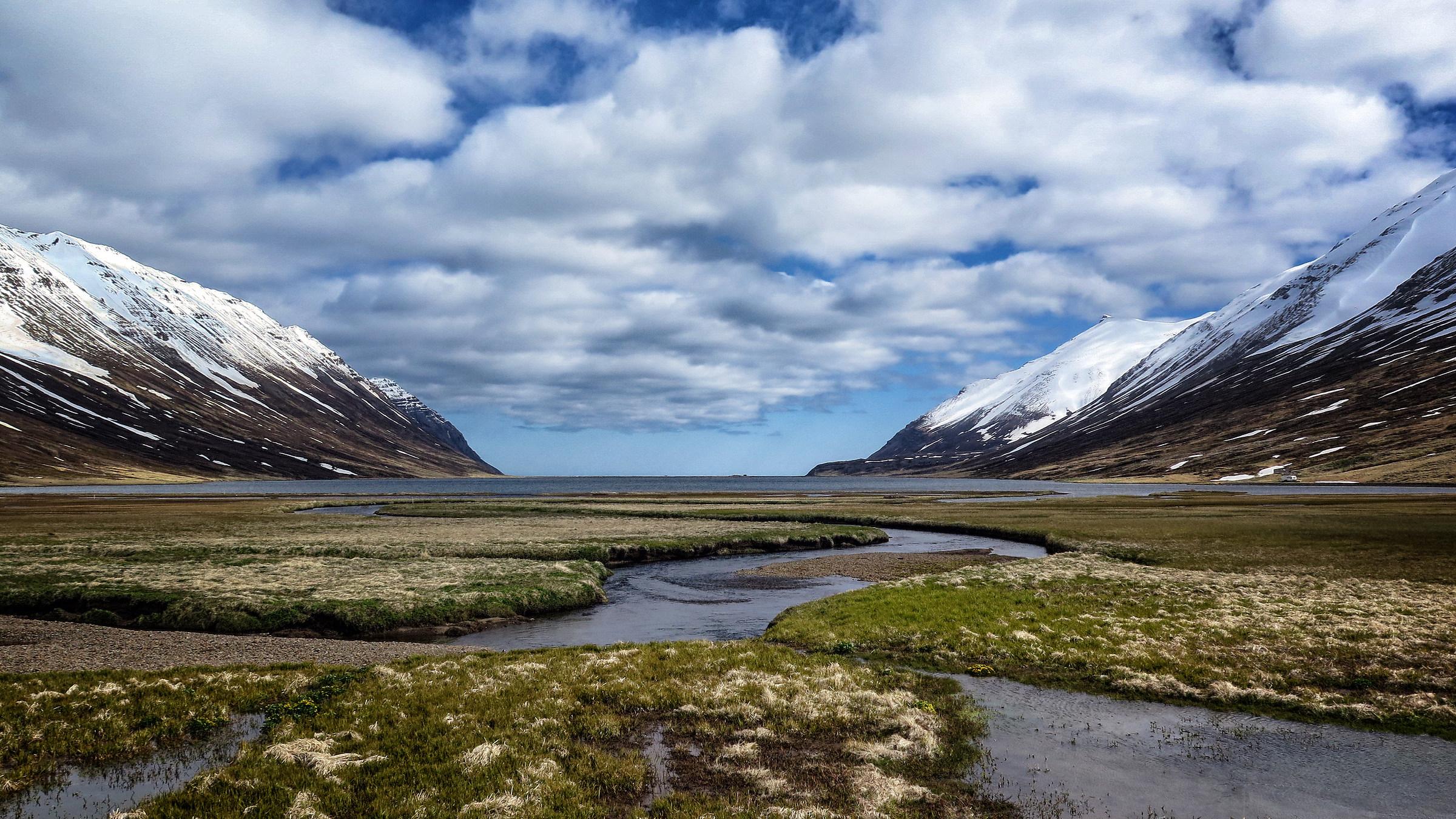 Icelandic fjord...