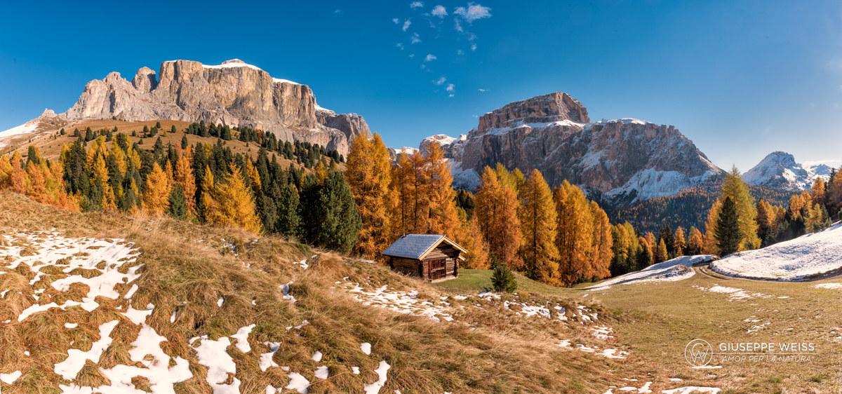 Sella and Pordoi one of the wonders of the Val di Fassa...