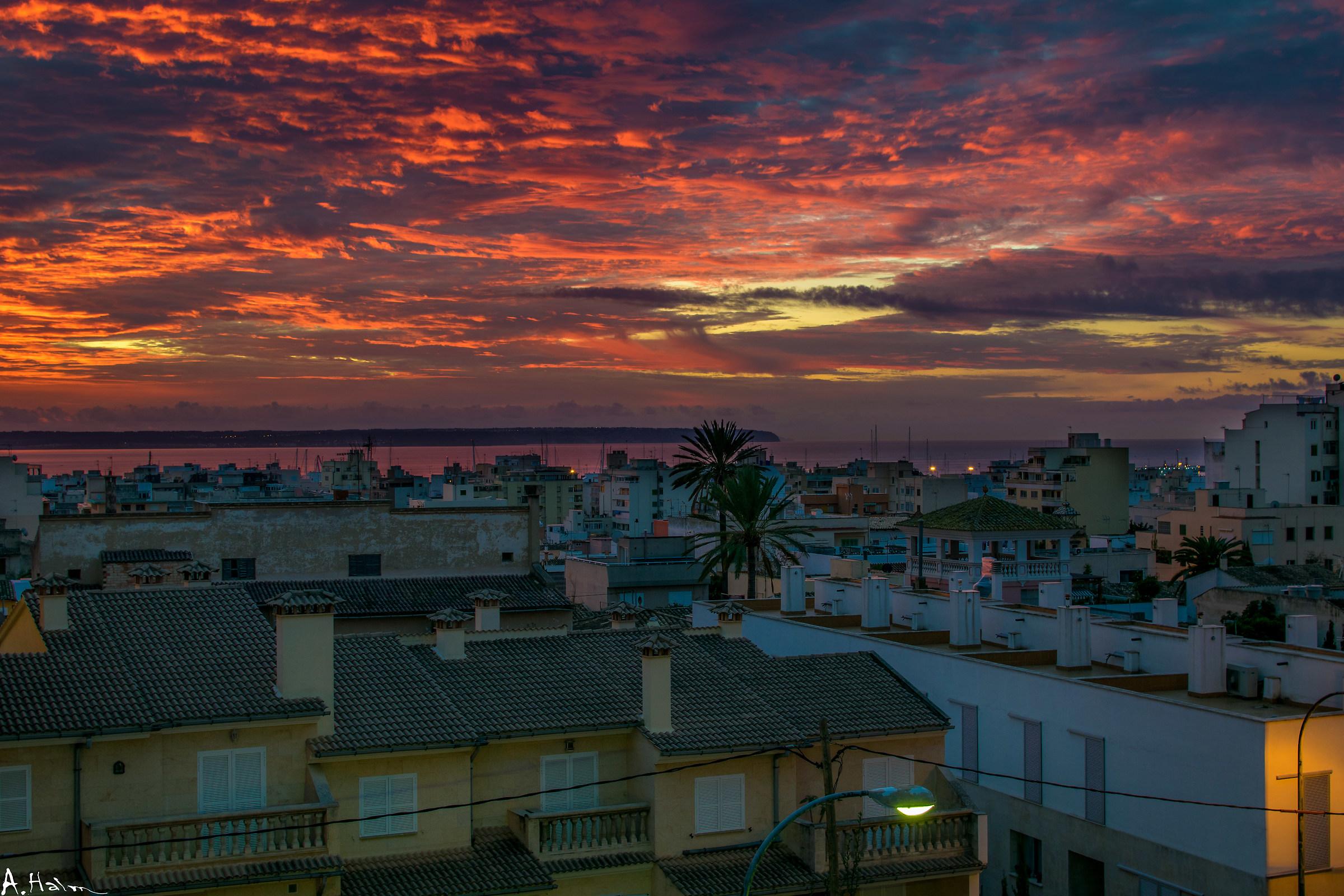 amazing sunrise in Palma...
