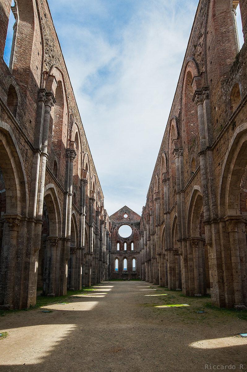 San Galgano abbey, Chiusdino (si). Tuscany...