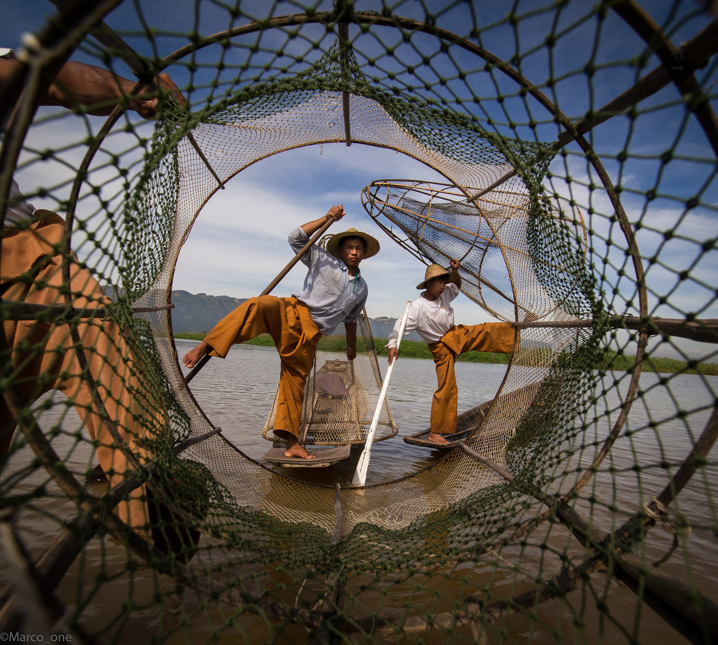 Inle Lake, fishermen...