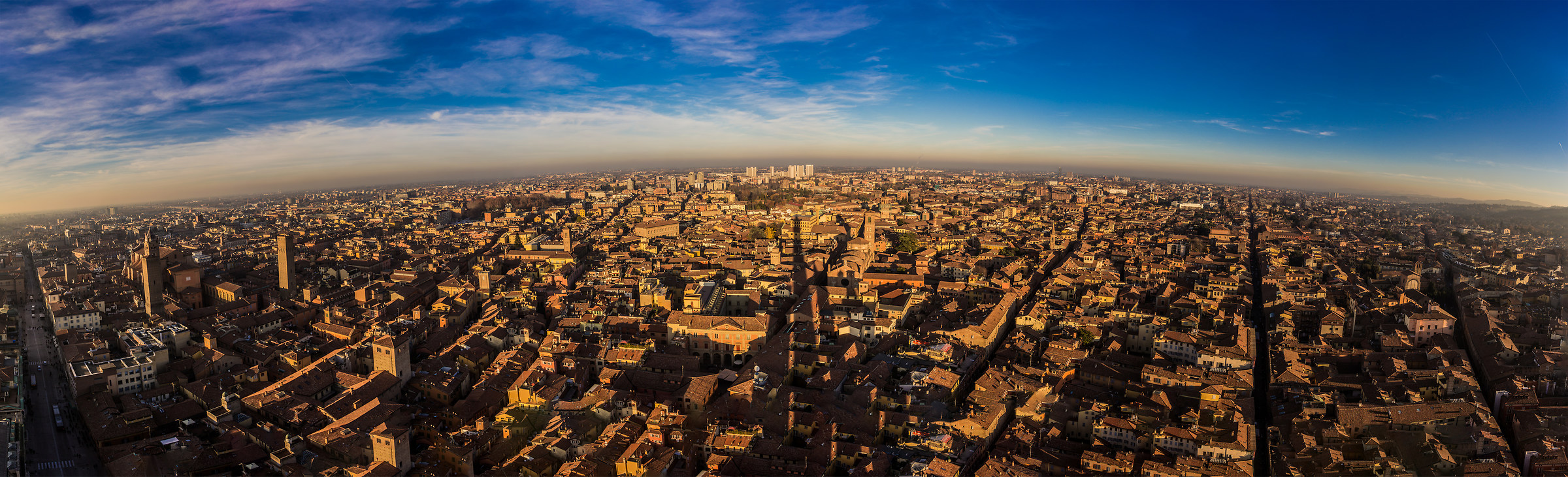Bologna from the top of the Asinelli tower...