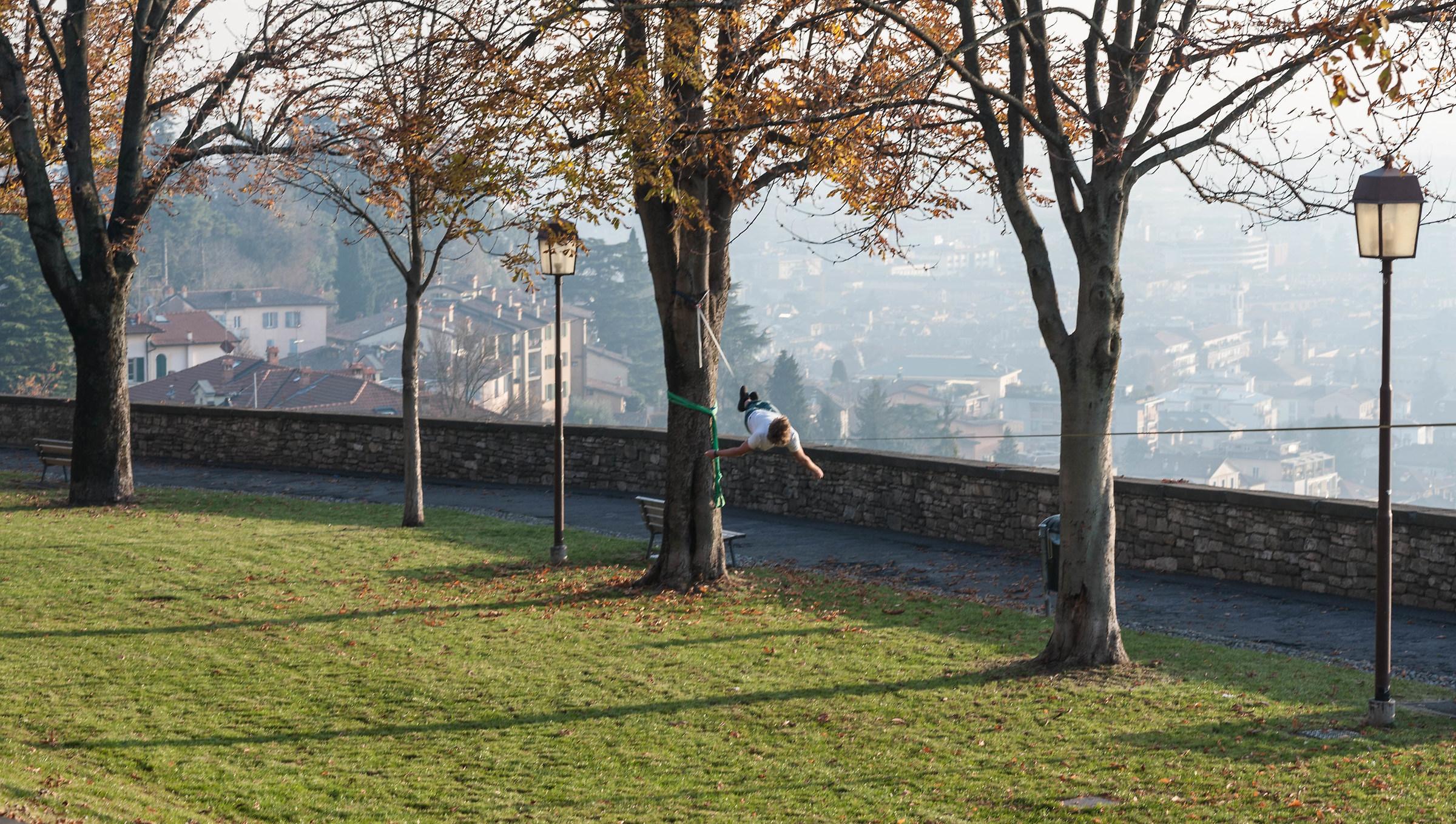 Relax sulle mura di Bergamo...