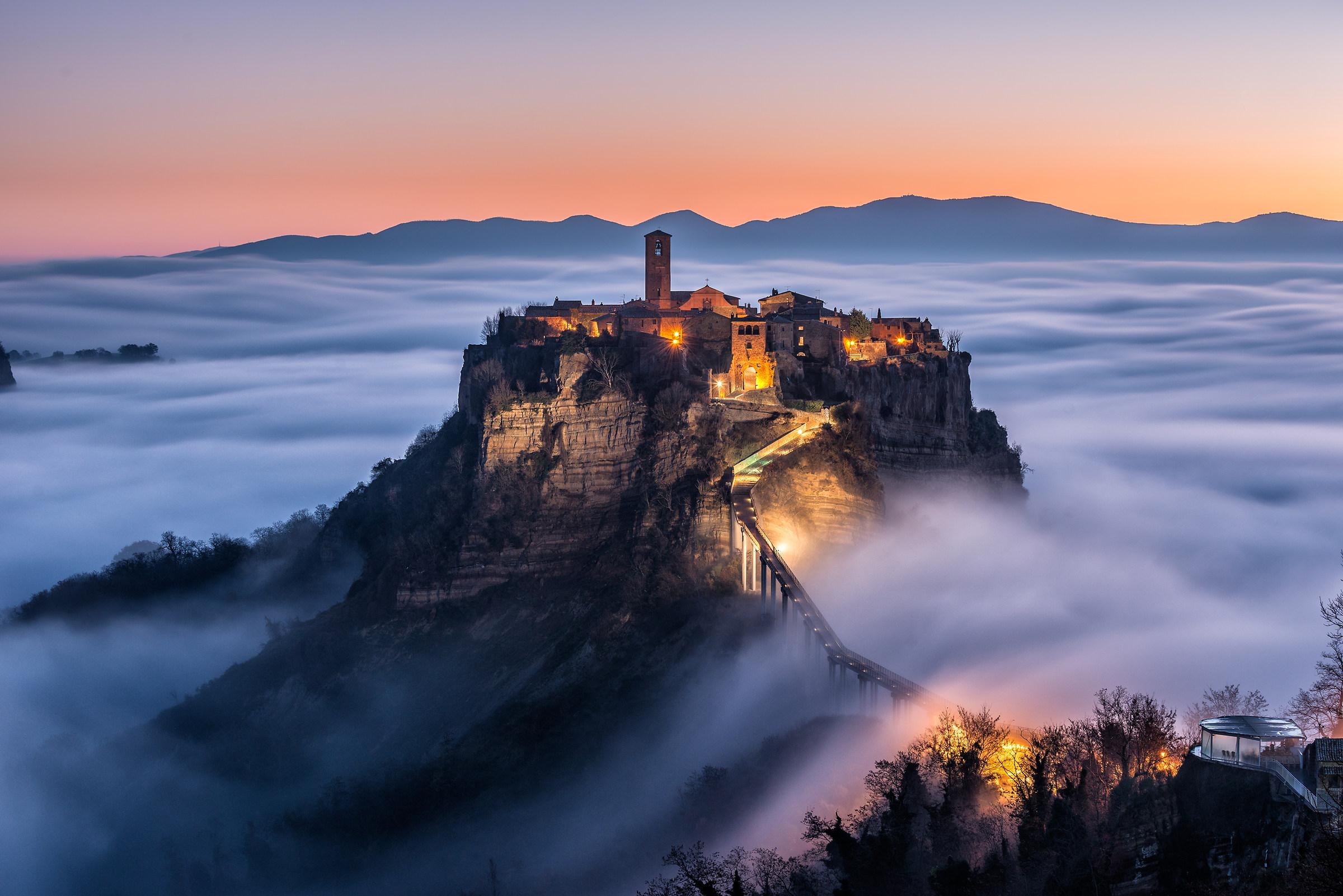 civita in a morning mist...