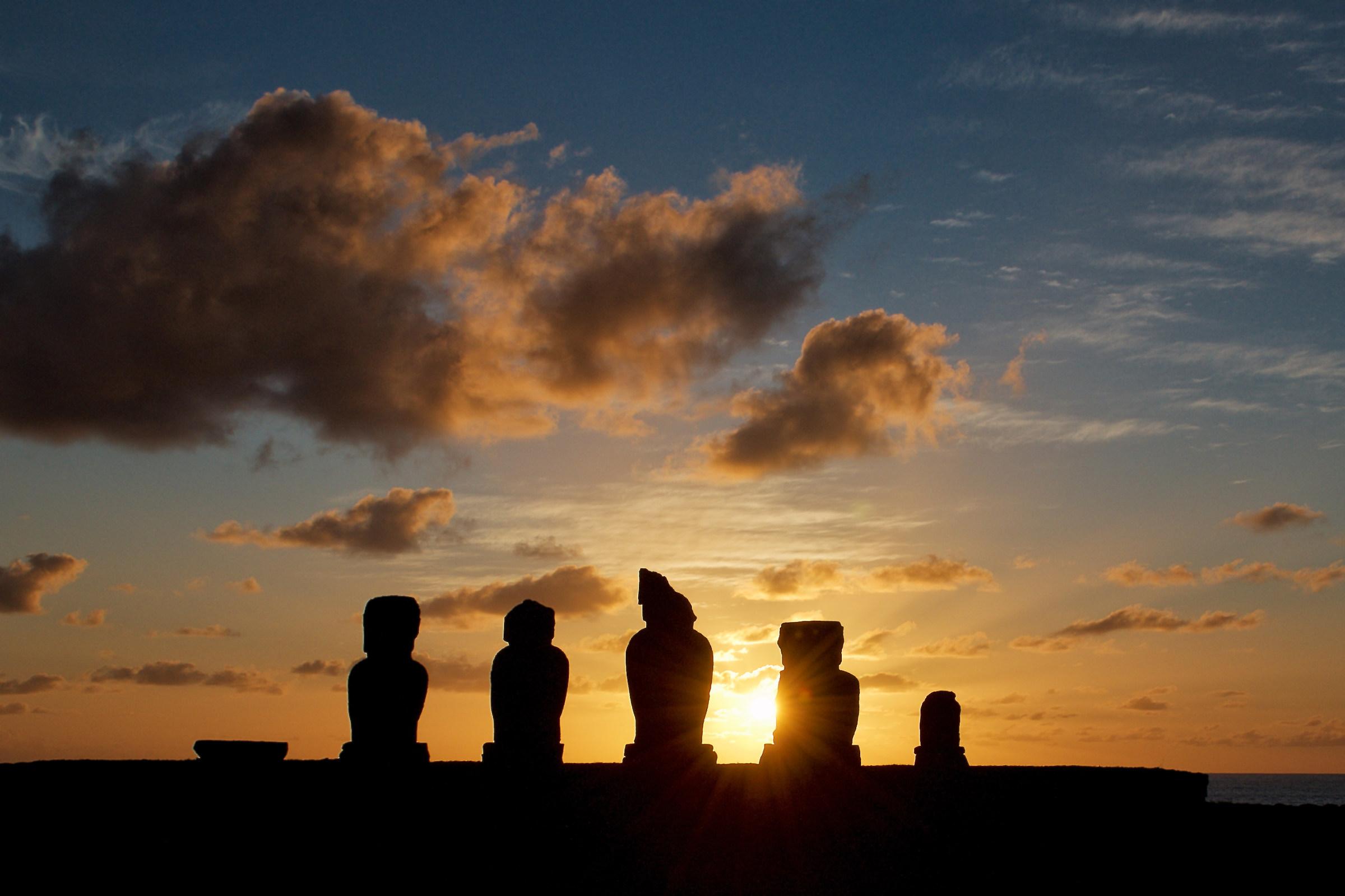 Moai at dusk...