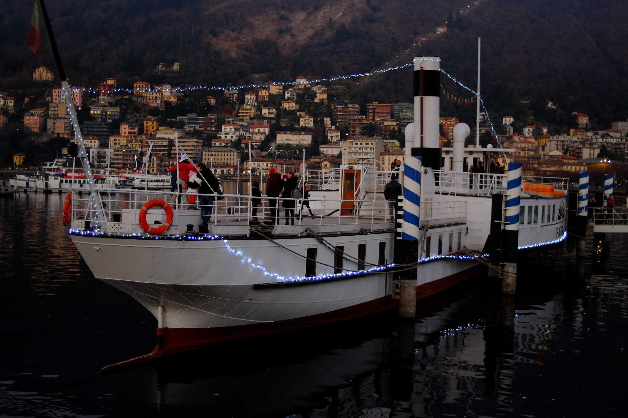 boat along the lake in Como...