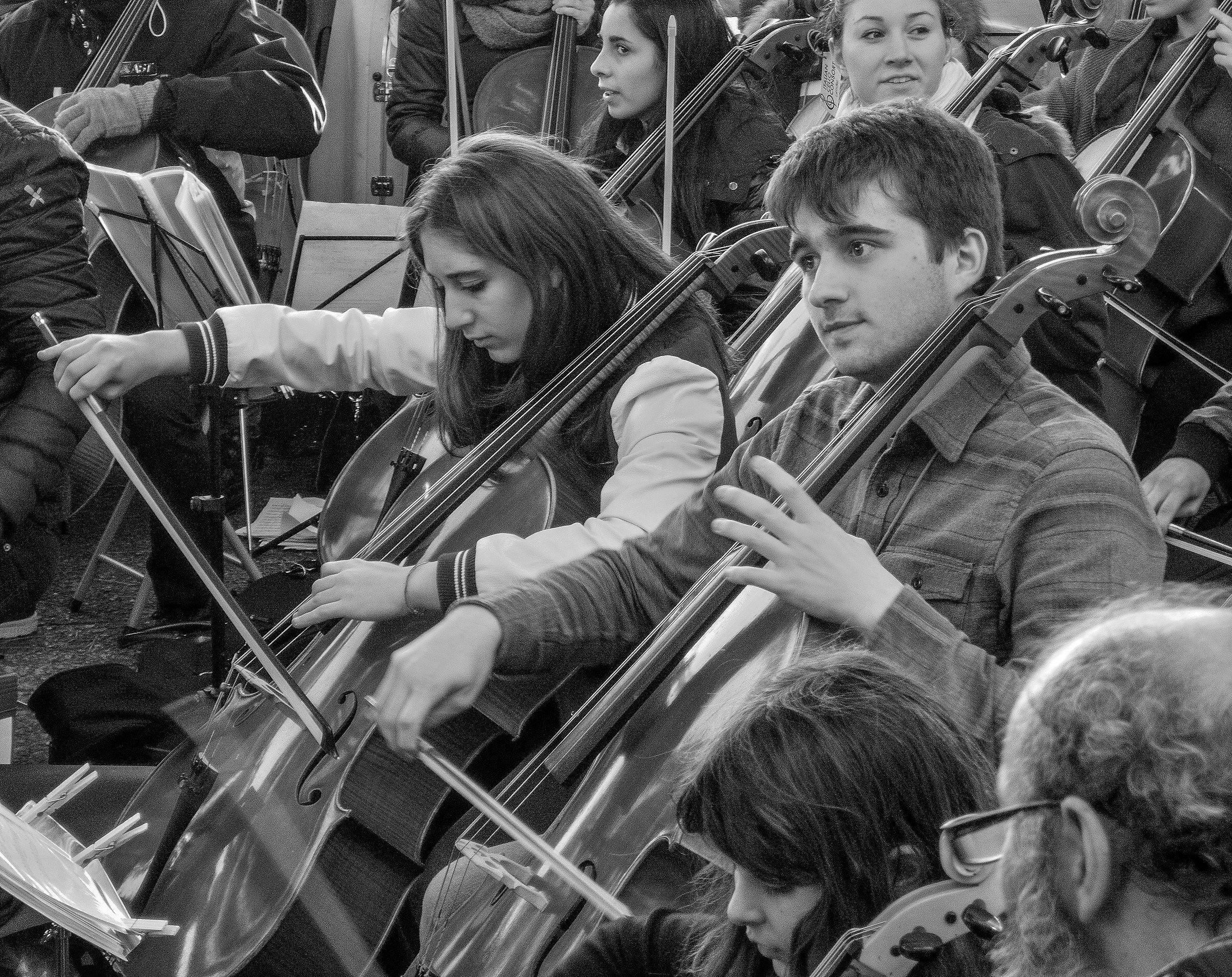 Musica itinerante a Genova...