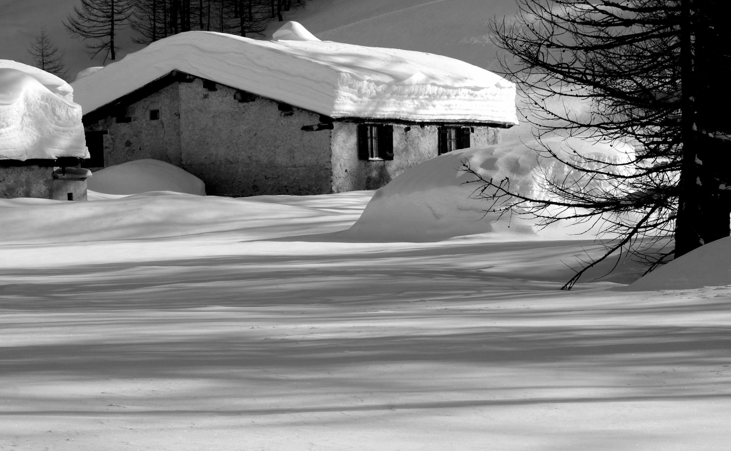 Lavachey, Val Ferret, gennaio -angolo di paradiso che...