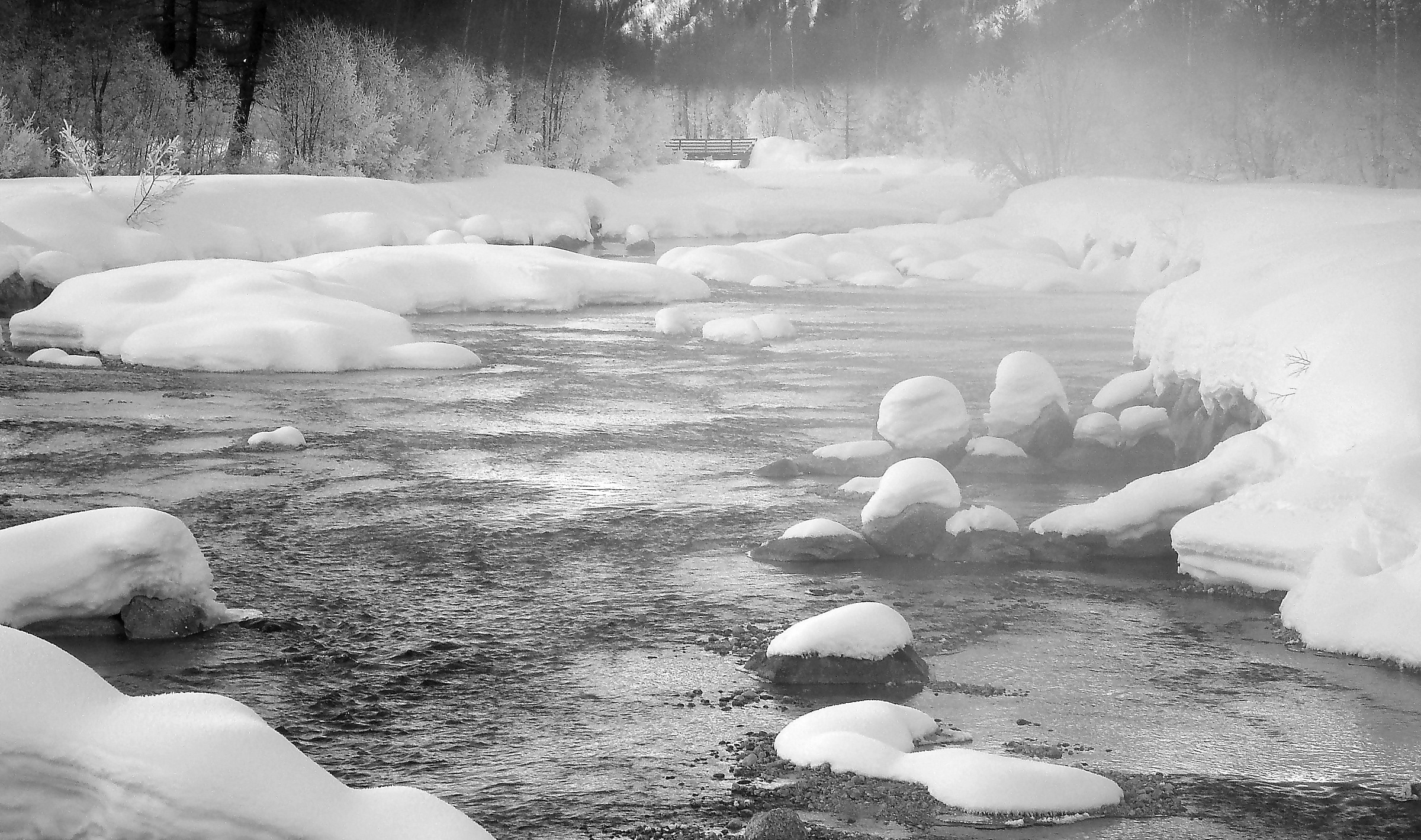 Il fiume vestito di nebbia - Dora di Ferret...