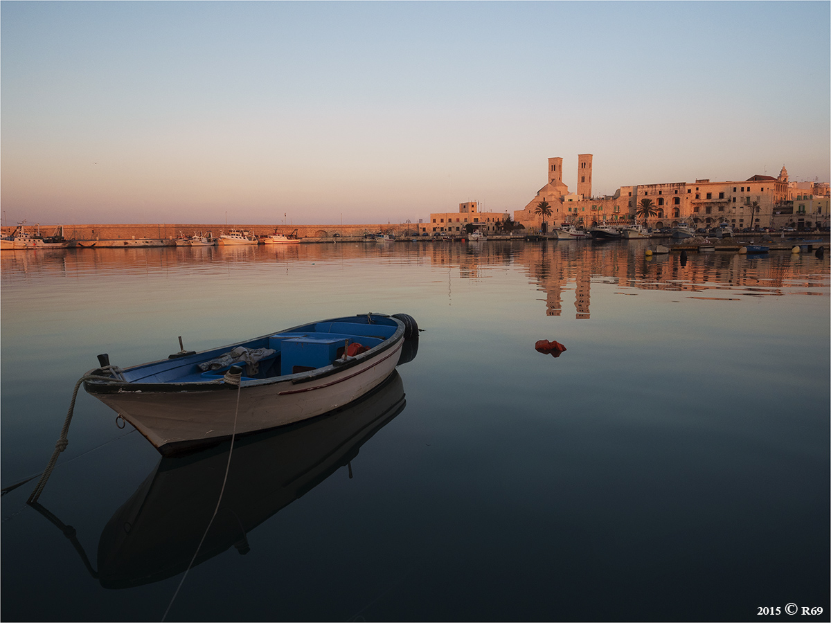 The quiet reflection of the port...