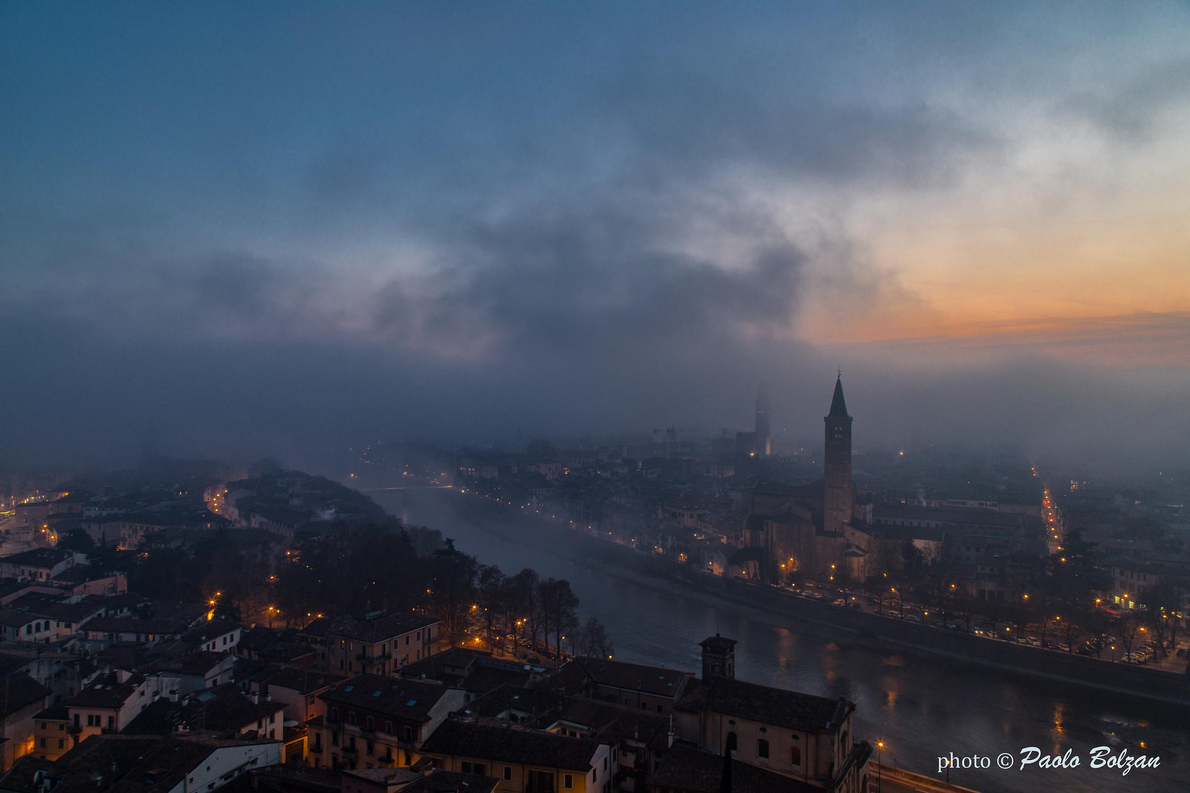 Verona at sunset...