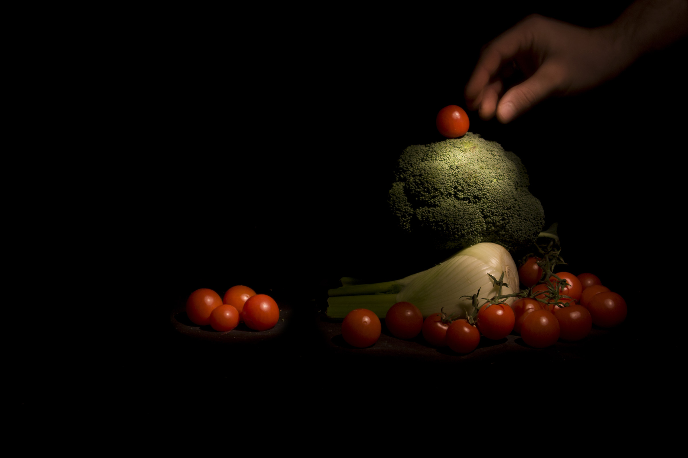 evidence of light painting-vegetables...