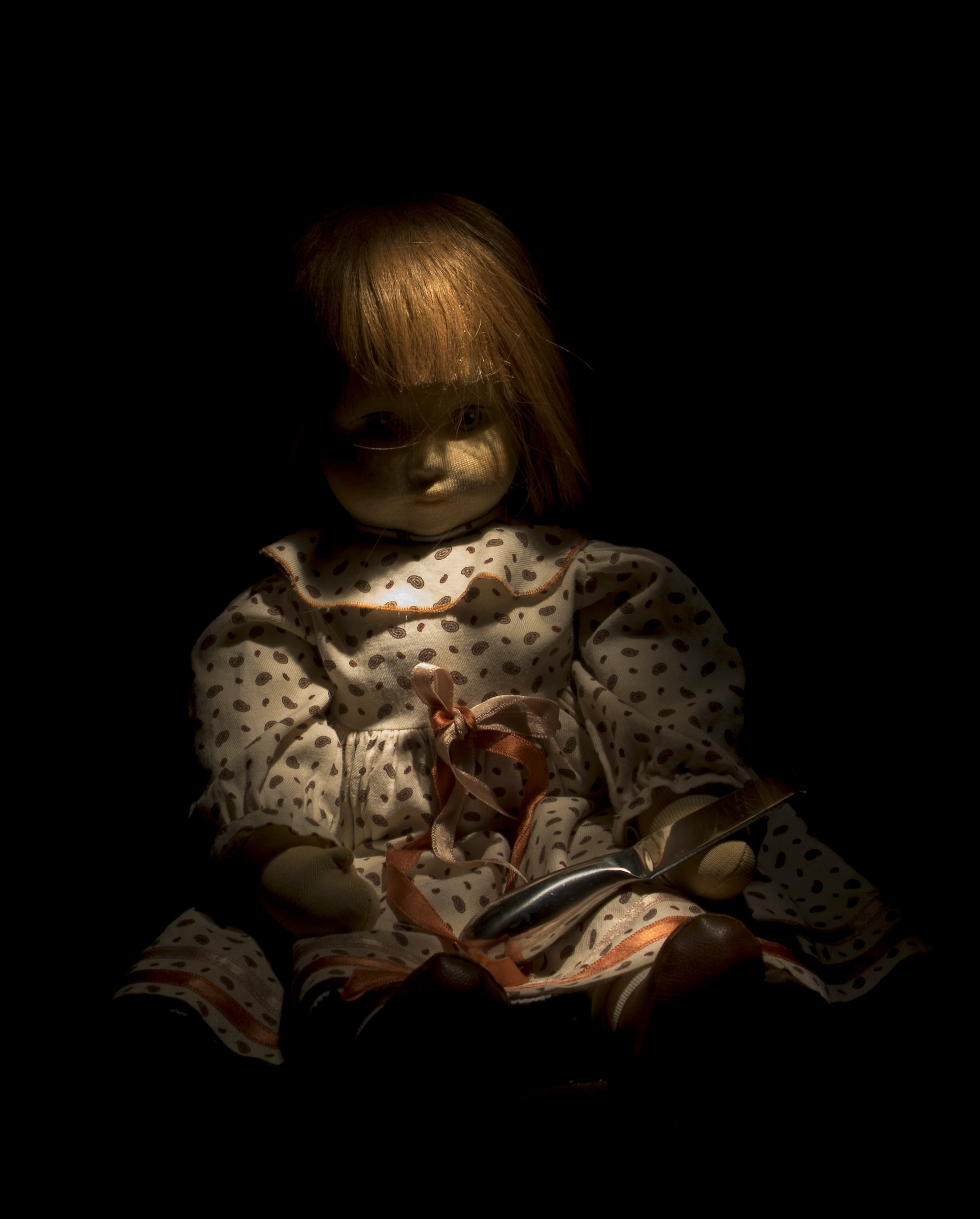 evidence of light painting-doll...
