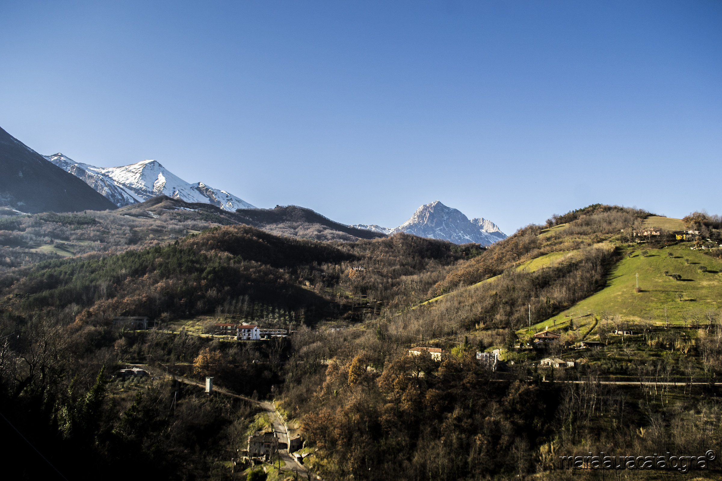 The Gran Sasso seen from Castelli...