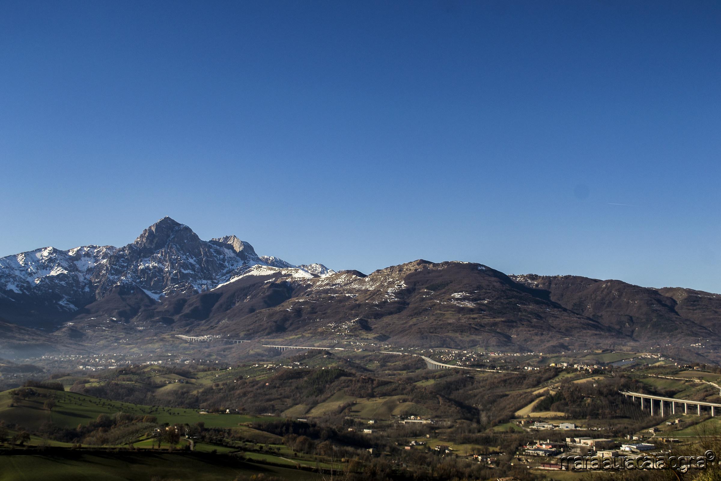 The Gran Sasso seen from Castel Castagna...