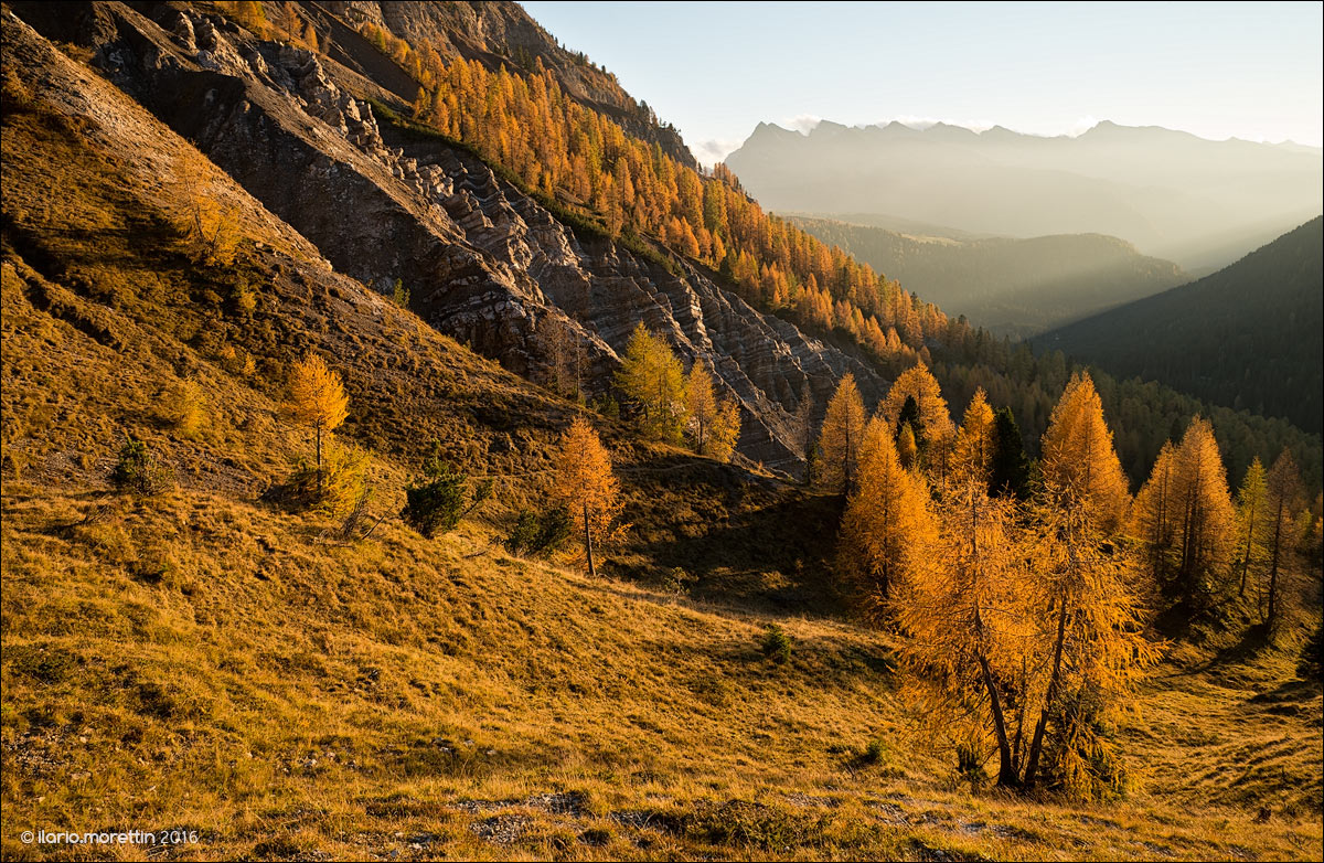 Sunset from Passo Valles...