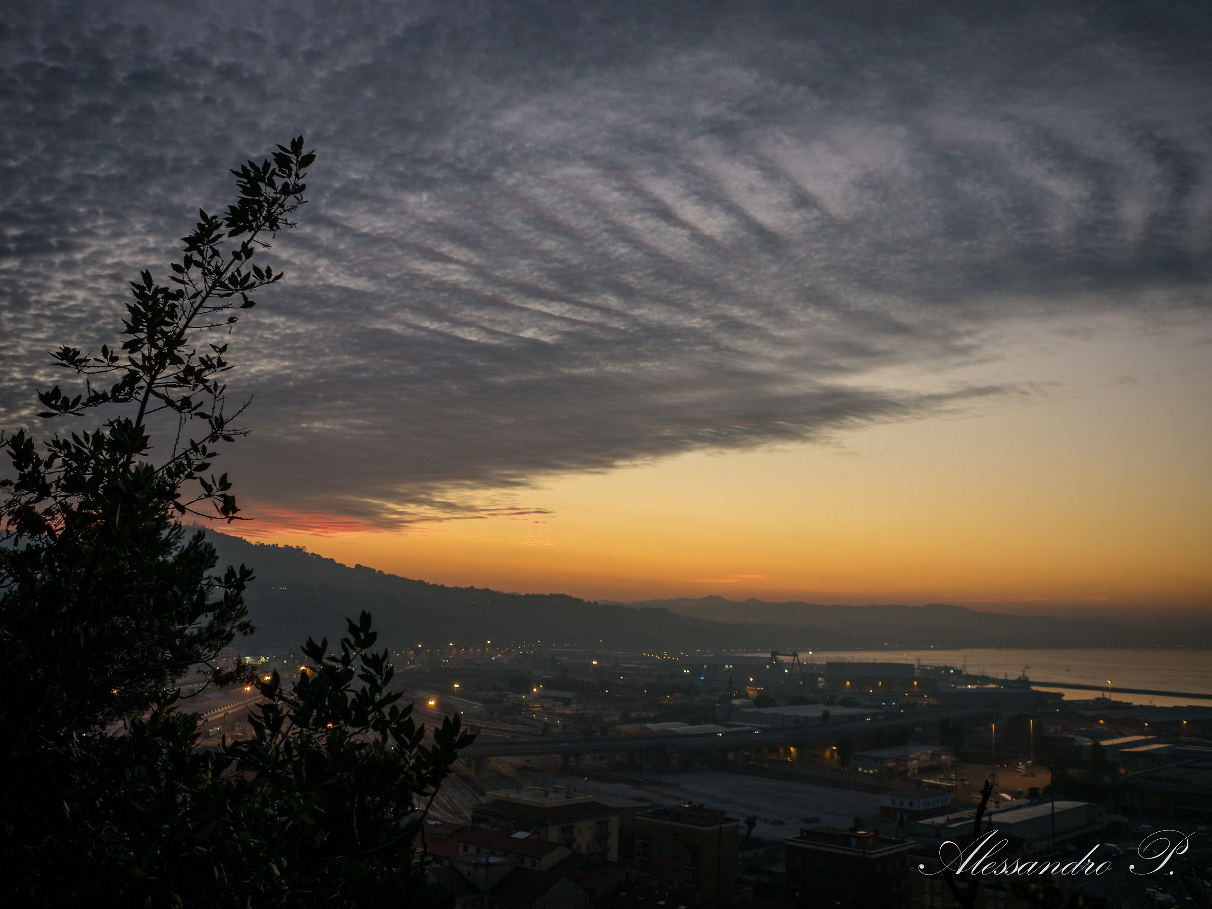 Sunset Ancona, Italy...