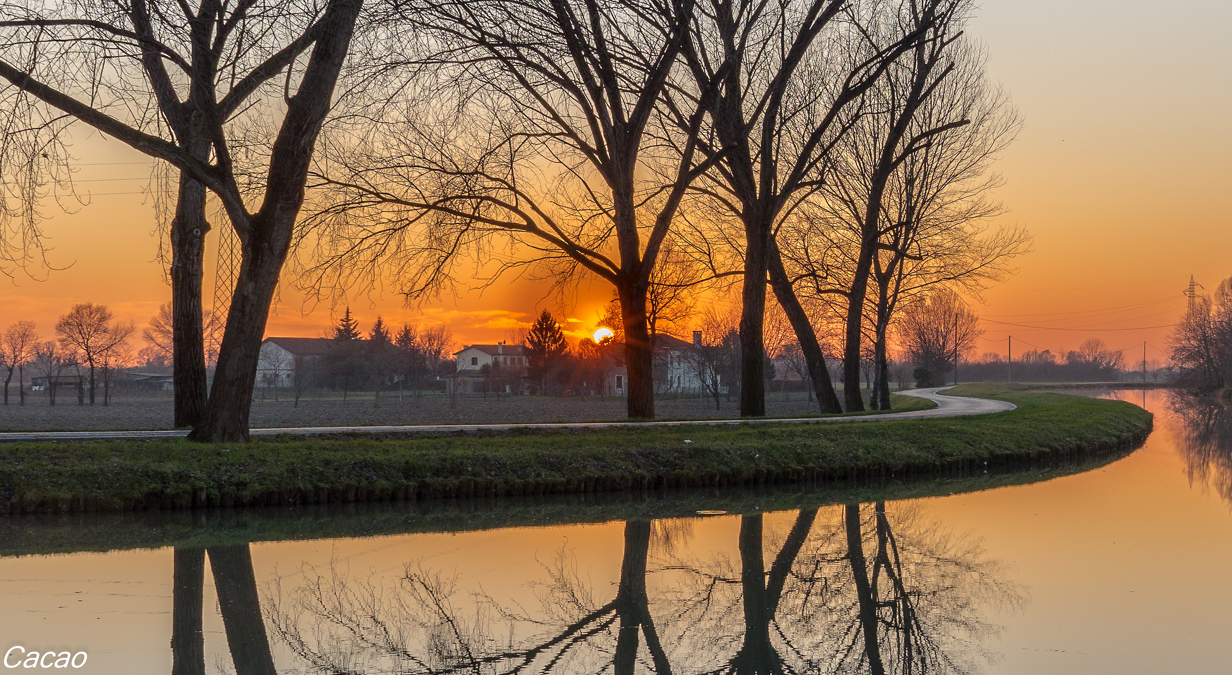 Sunset on the Brenta Malcontenta (ve)...