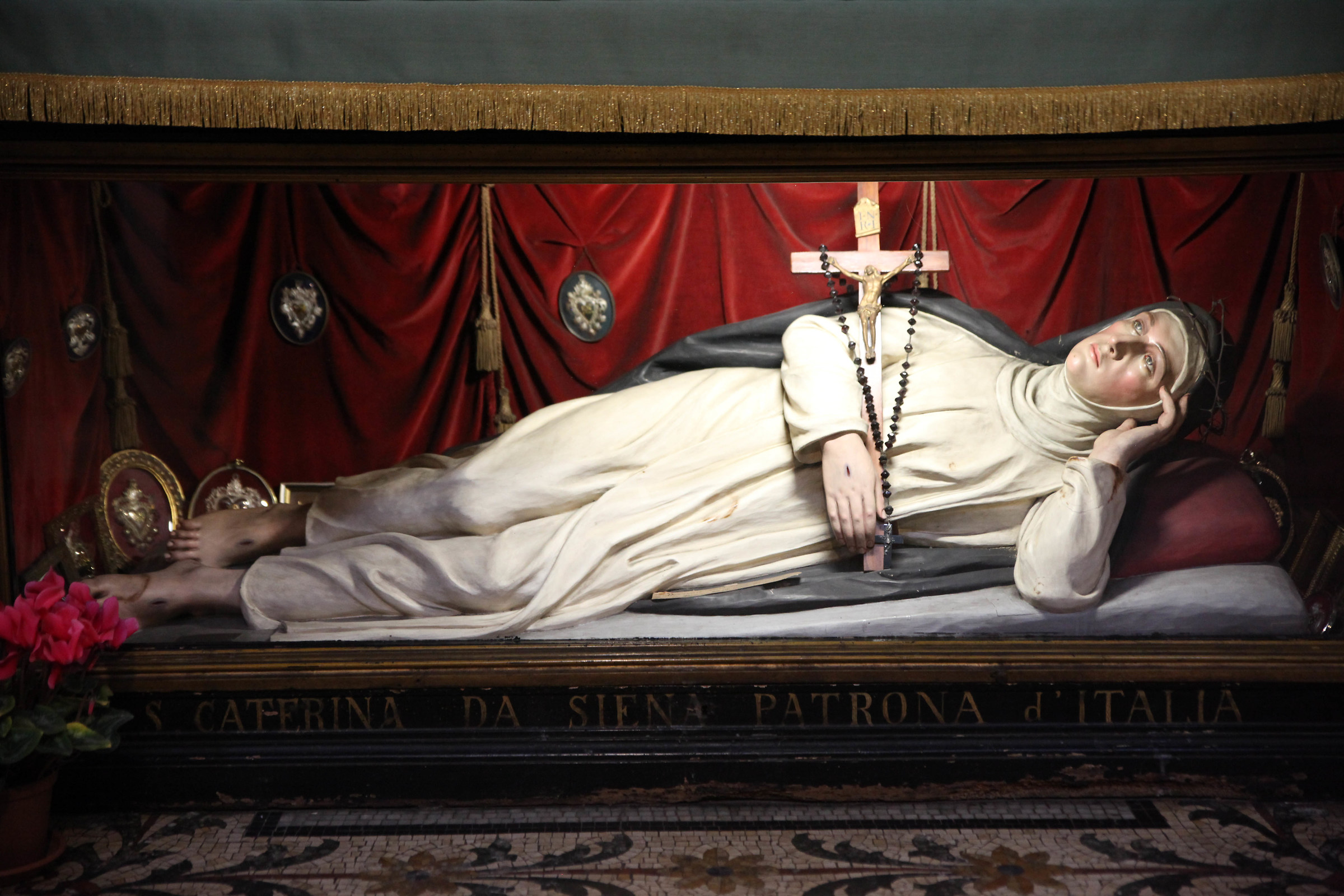 On the Patron Saint Catherine of Siena Italy...