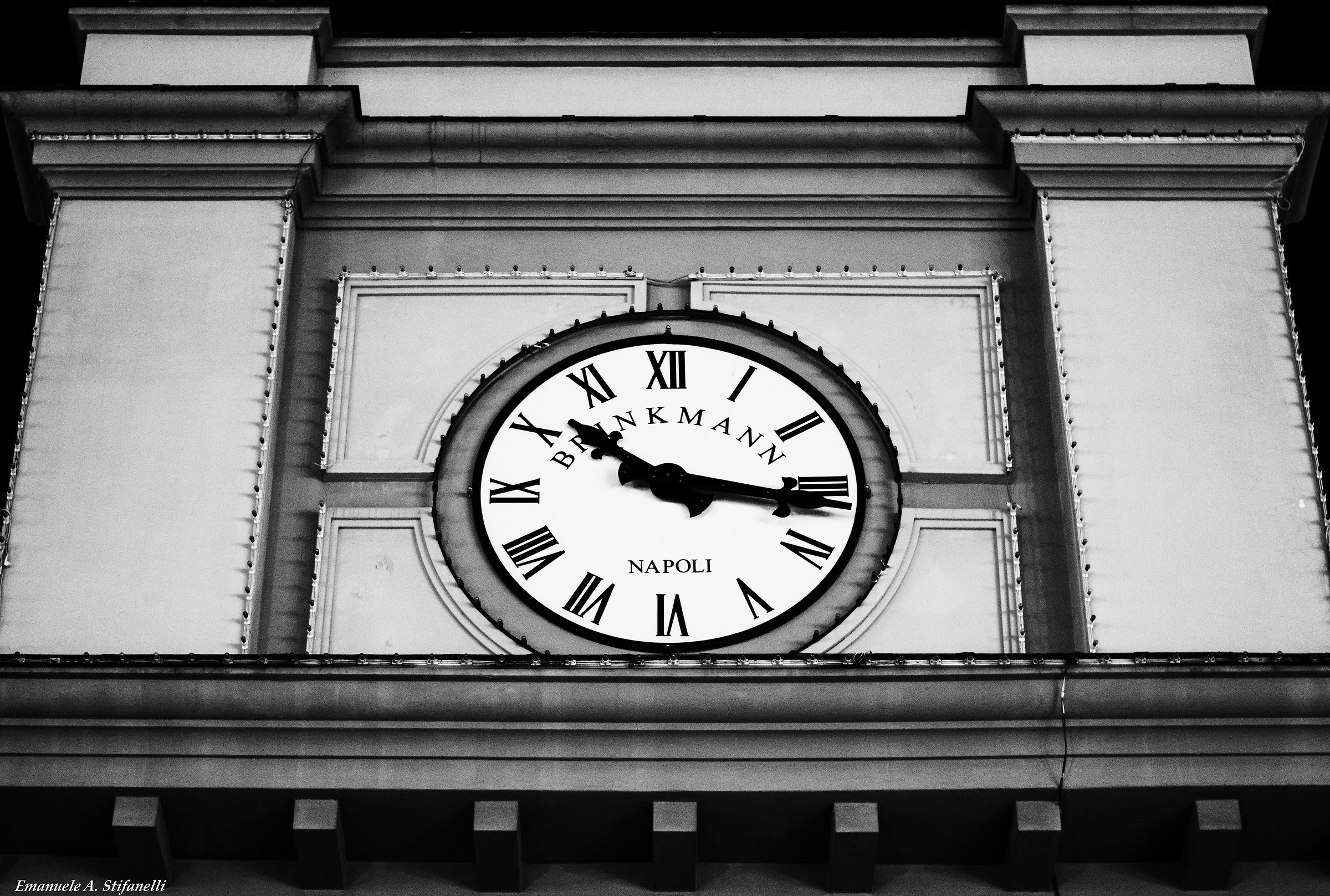 The clock of the funicular...