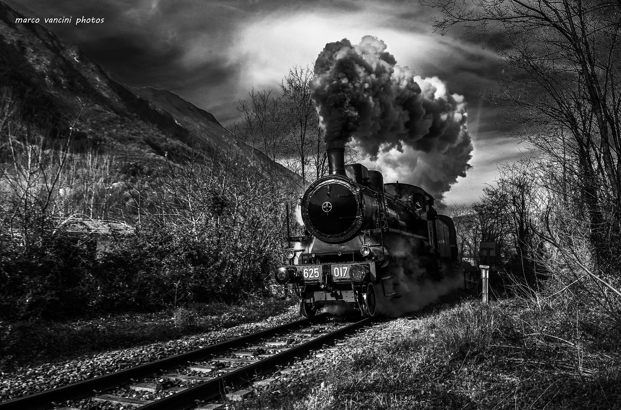 Steam train...