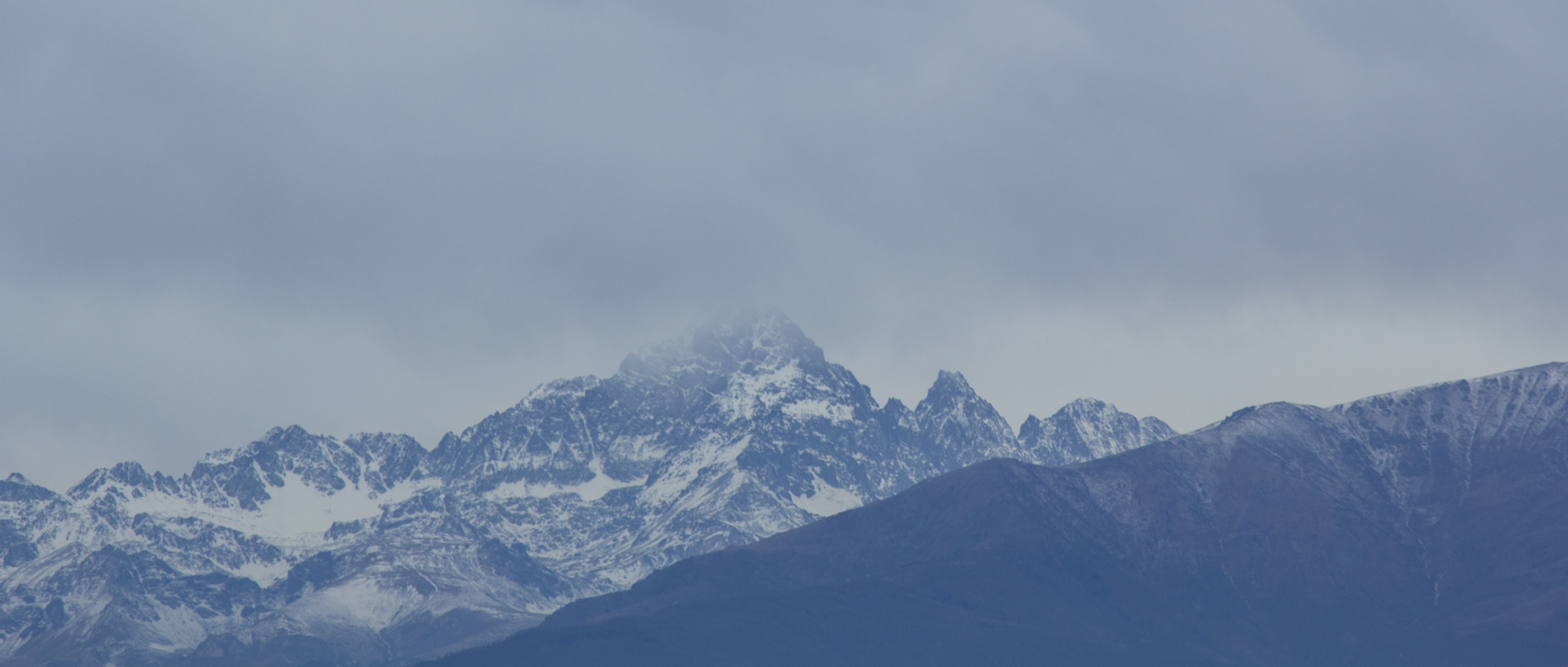 Monviso in the clouds...