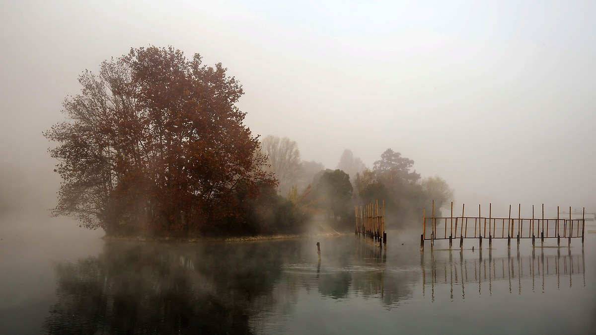 Il Mincio e la sua nebbia...