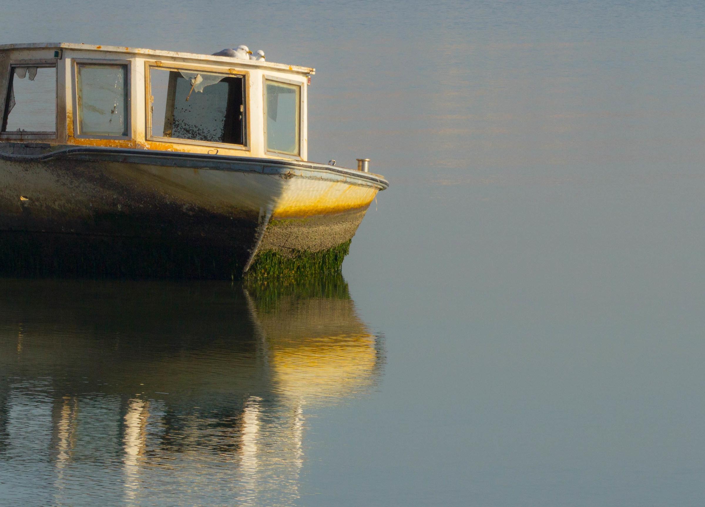 Sul barchino a riposare...