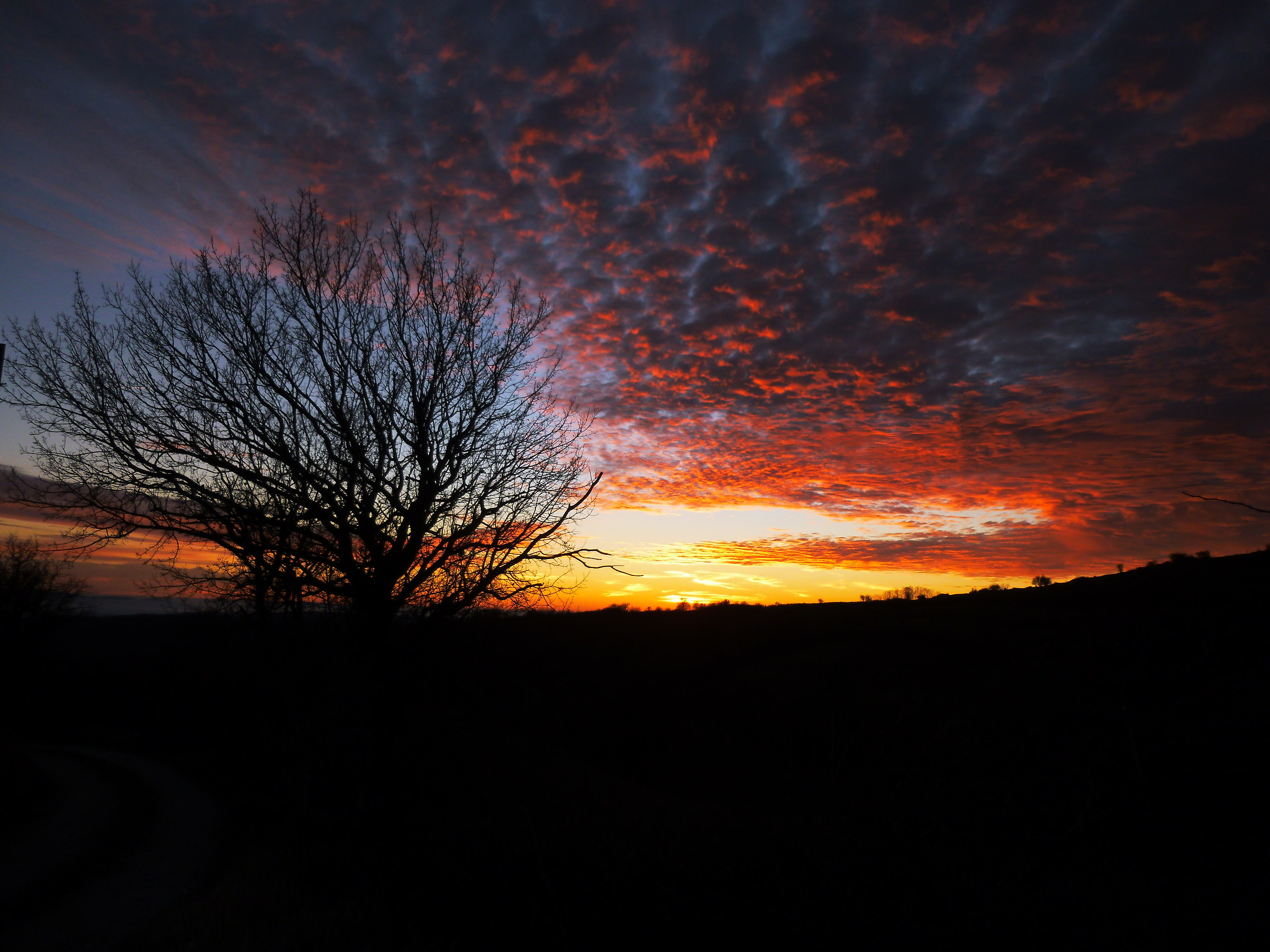fiery sunset...