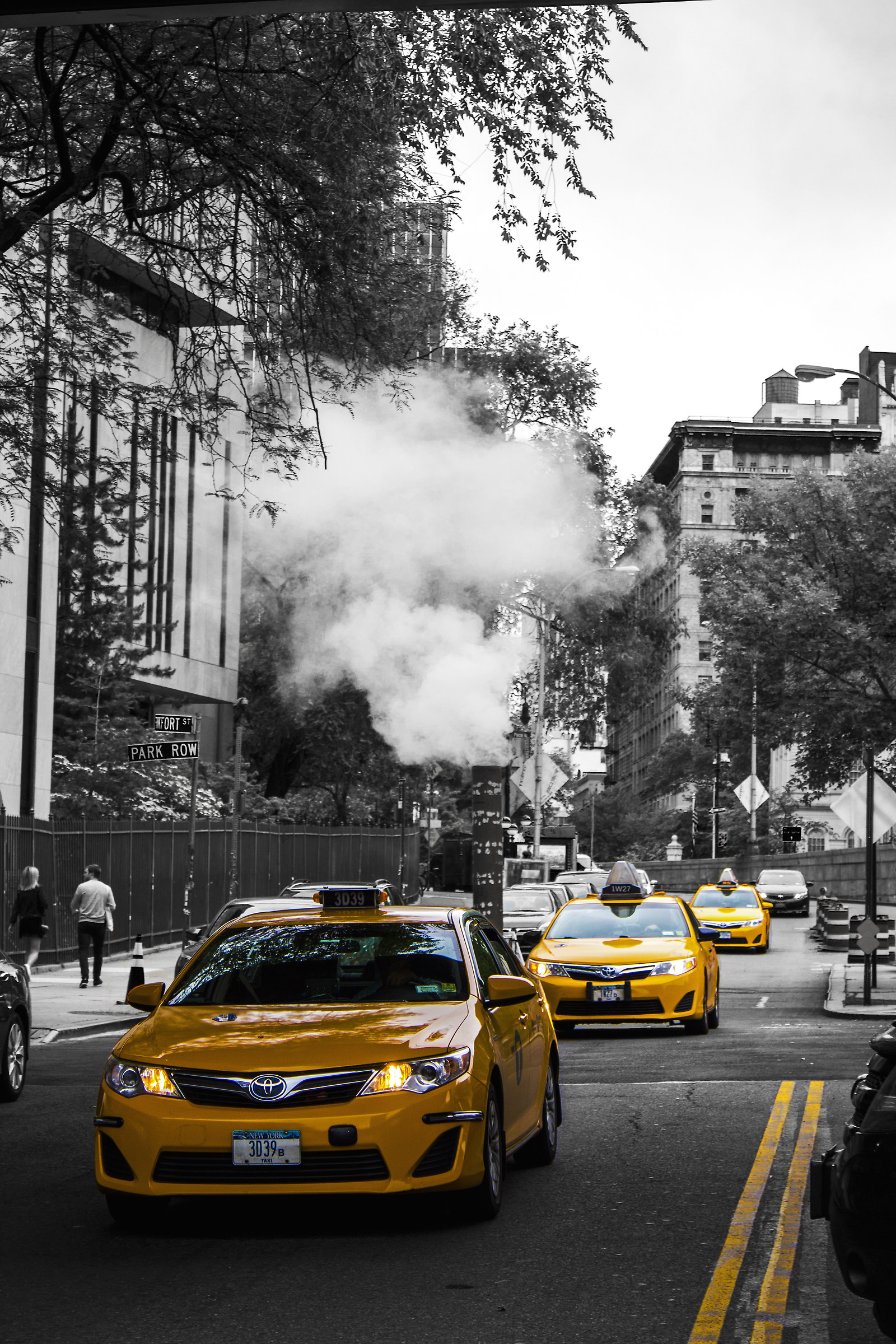 Yellow taxi line...