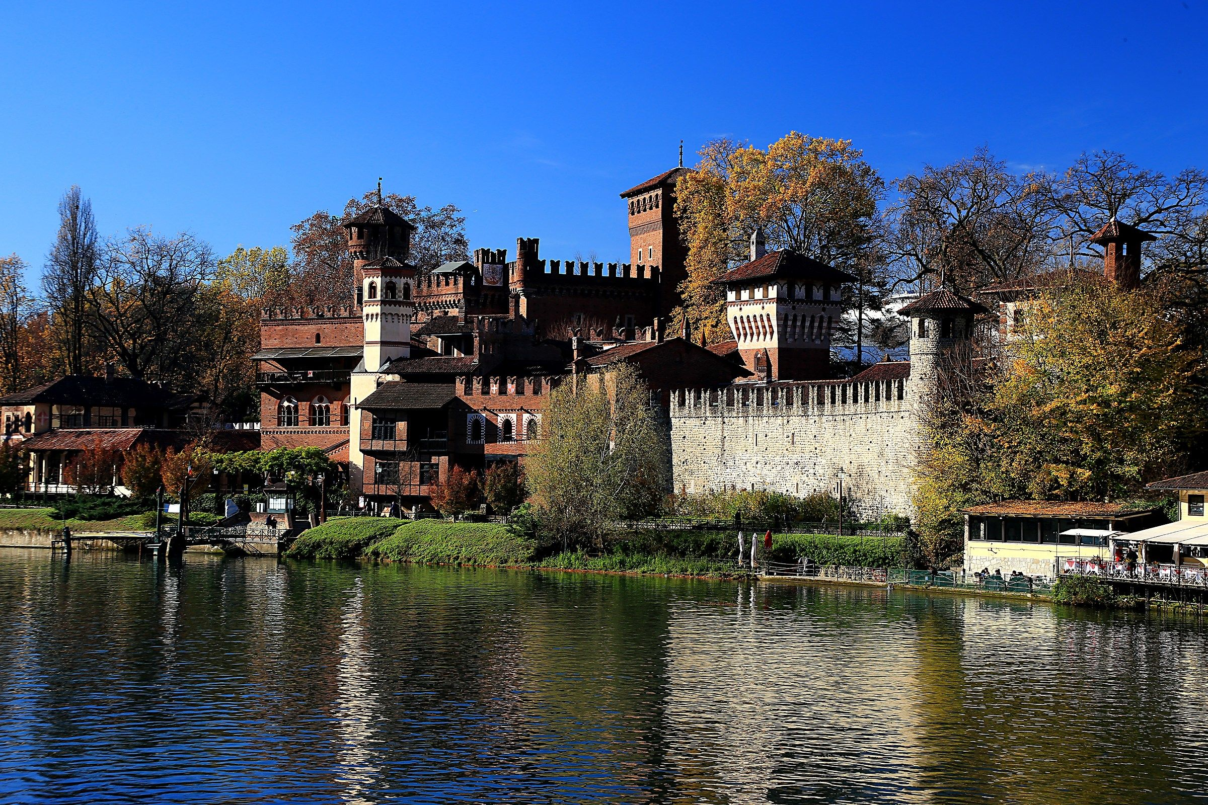 The castle and the medieval town, Turin...
