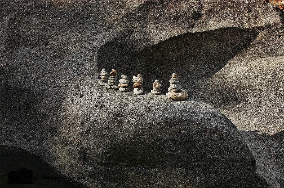 Balancing stones in Val Maggia...