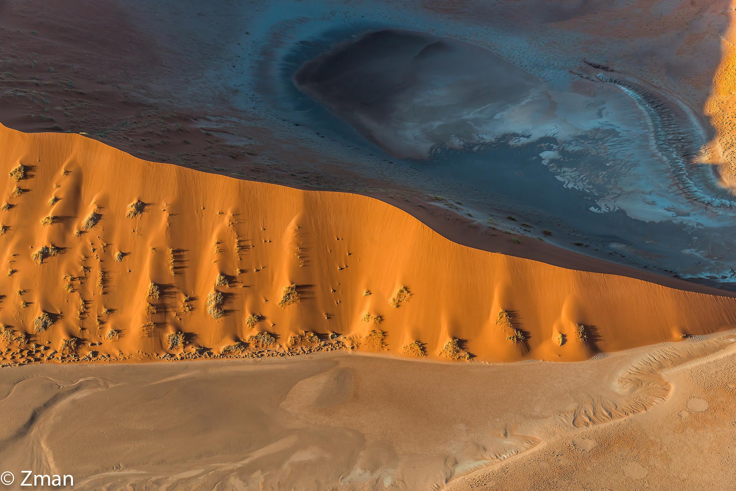 Sand Dune Meeting Desert Floor...