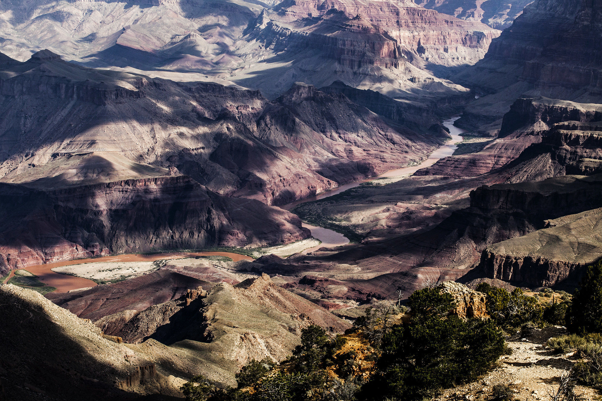 Grand Canyon, the Colorado River view from Desert Point...