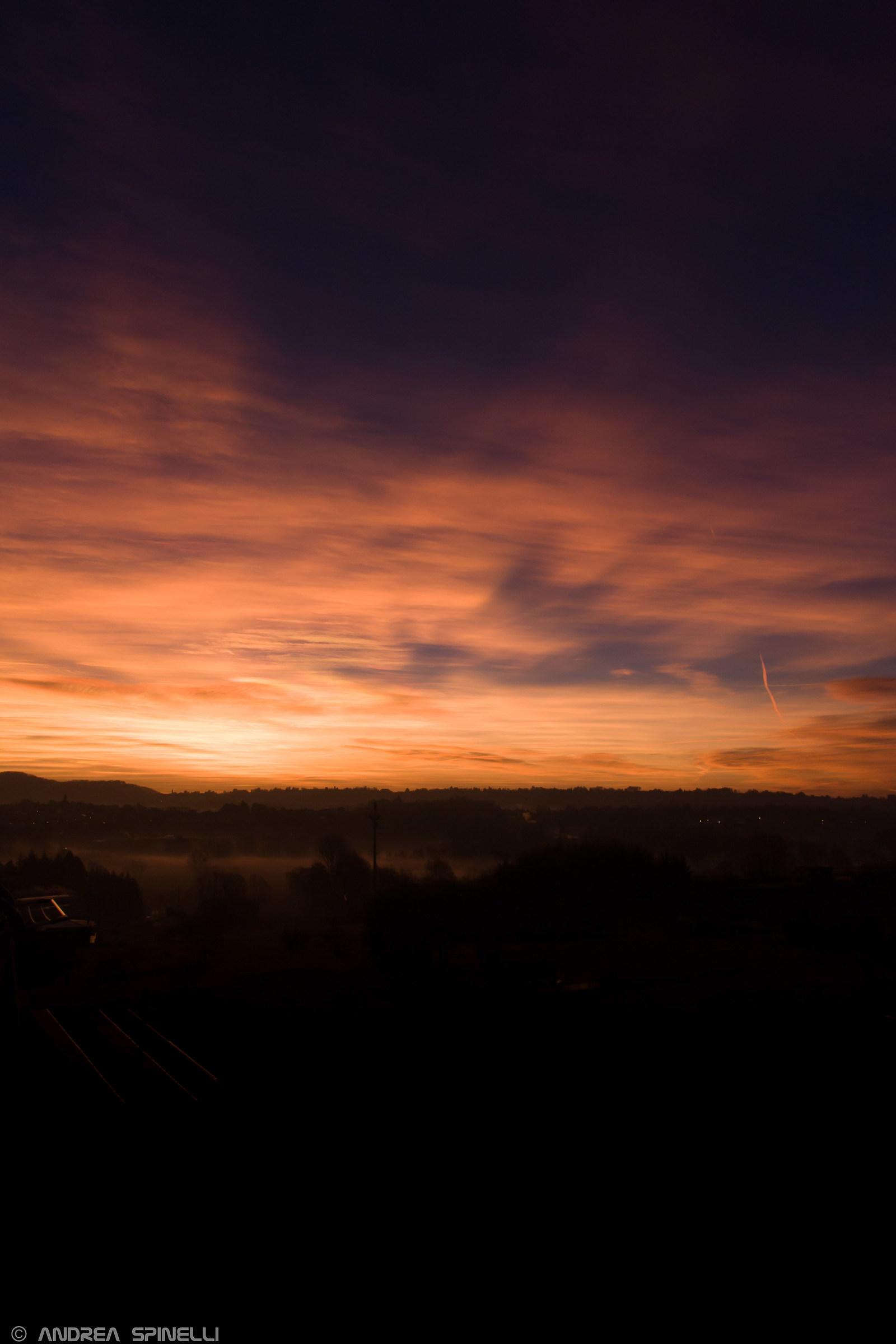 Sunset of fire on Veduggio...