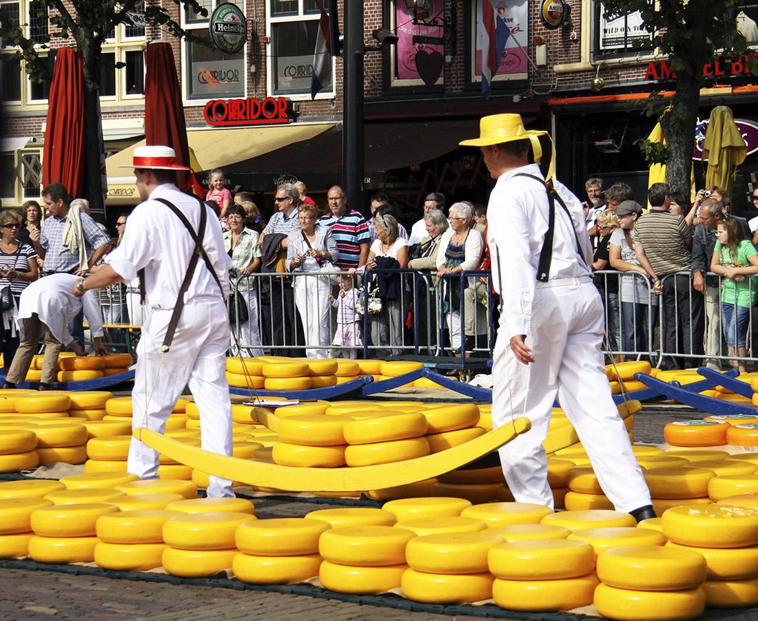 alkmaar cheese market...