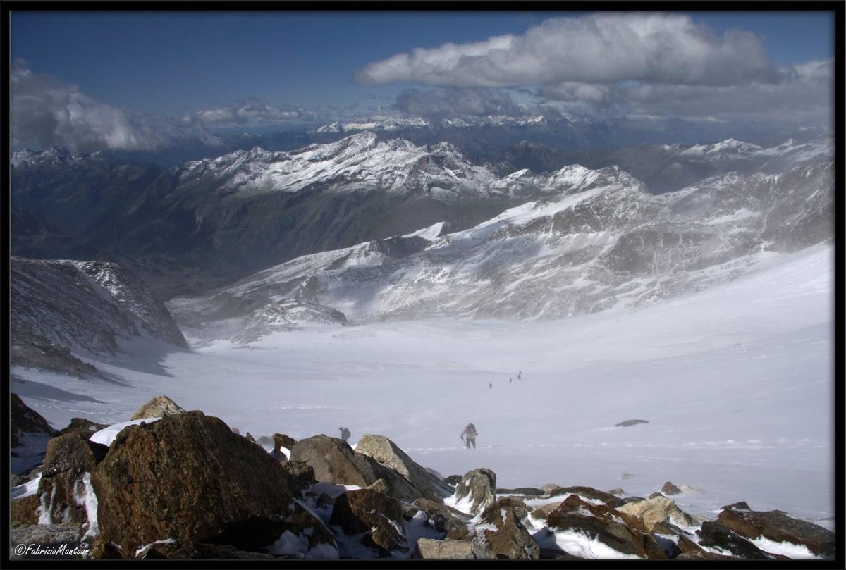 Monte Rosa, ghiacciaio d'Indren....